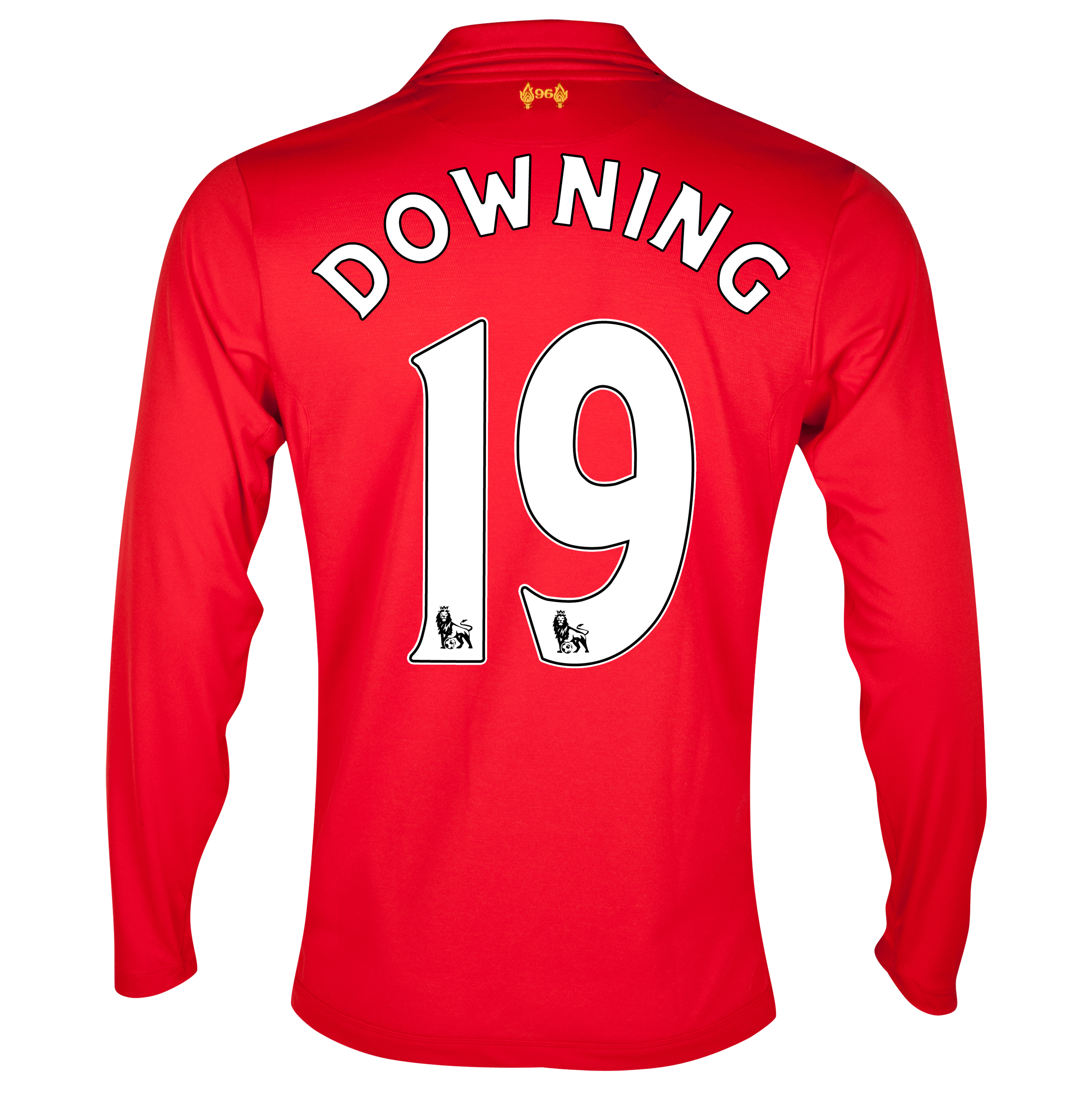 Liverpool Home Shirt 2012/13 - Long Sleeve - Kids with Downing 19 printing