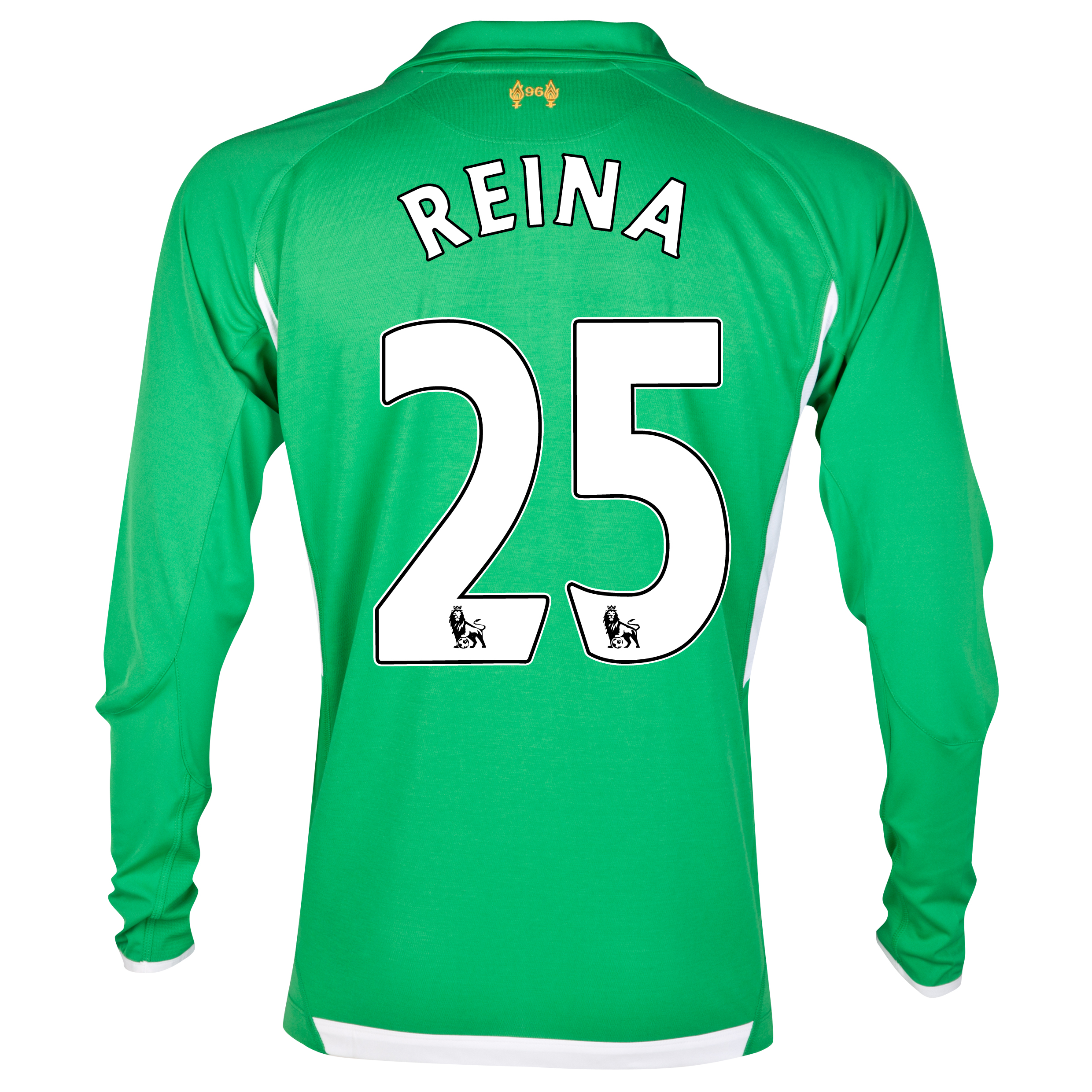 Liverpool Home Goalkeeper Shirt 2012/13 with Reina 25 printing