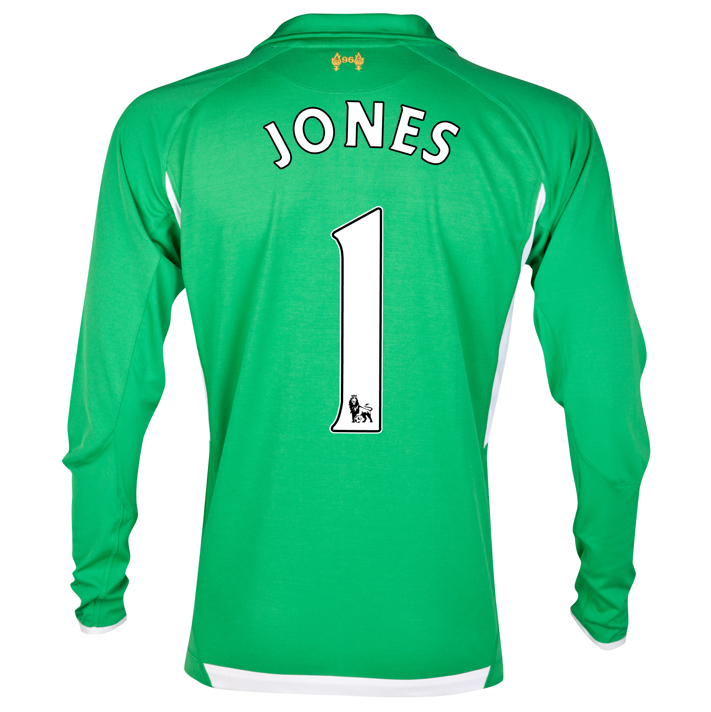 Liverpool Home Goalkeeper Shirt 2012/13 - Youths with Jones 1 printing