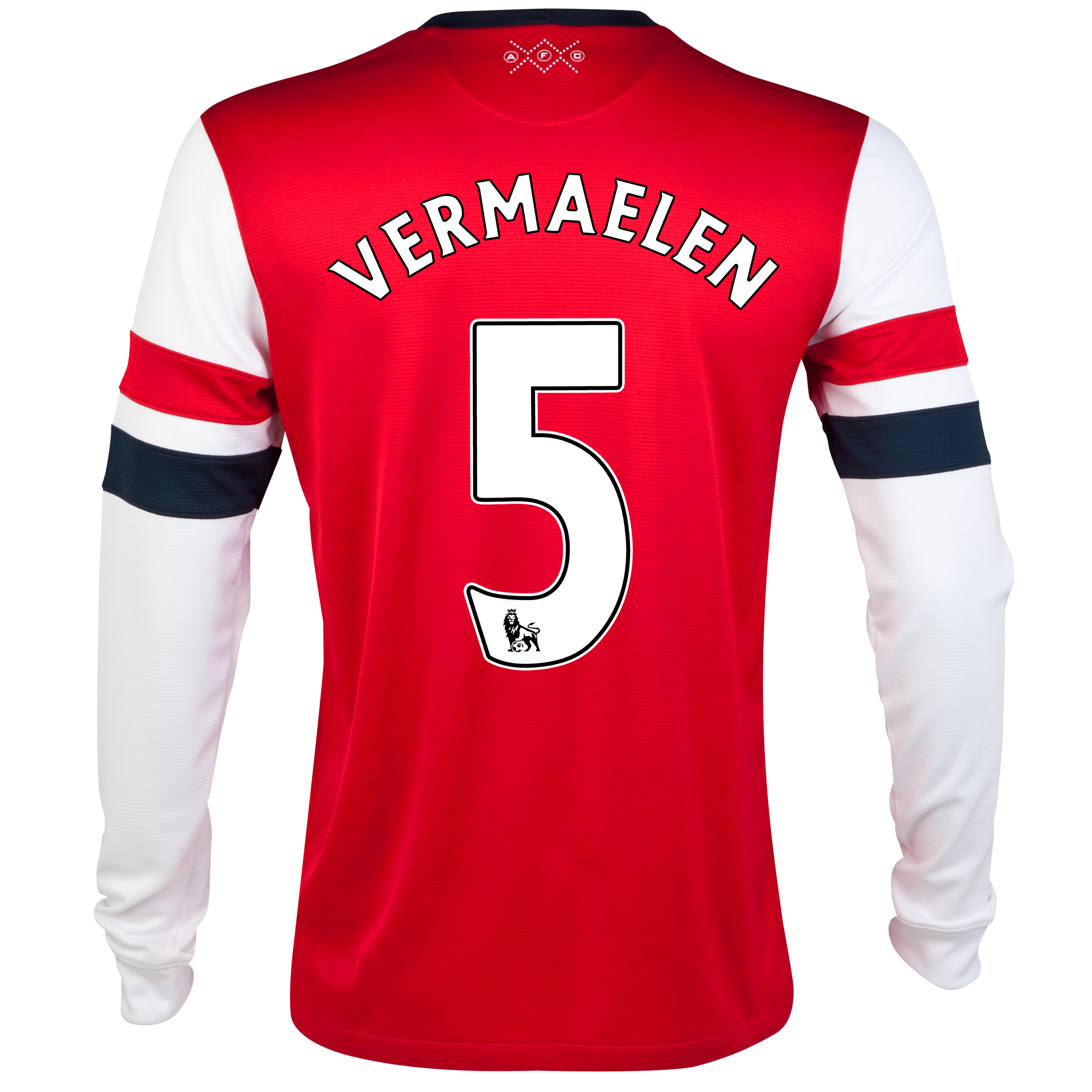 Arsenal  Home Shirt 2012/13 - Long Sleeve with Vermaelen 5 printing