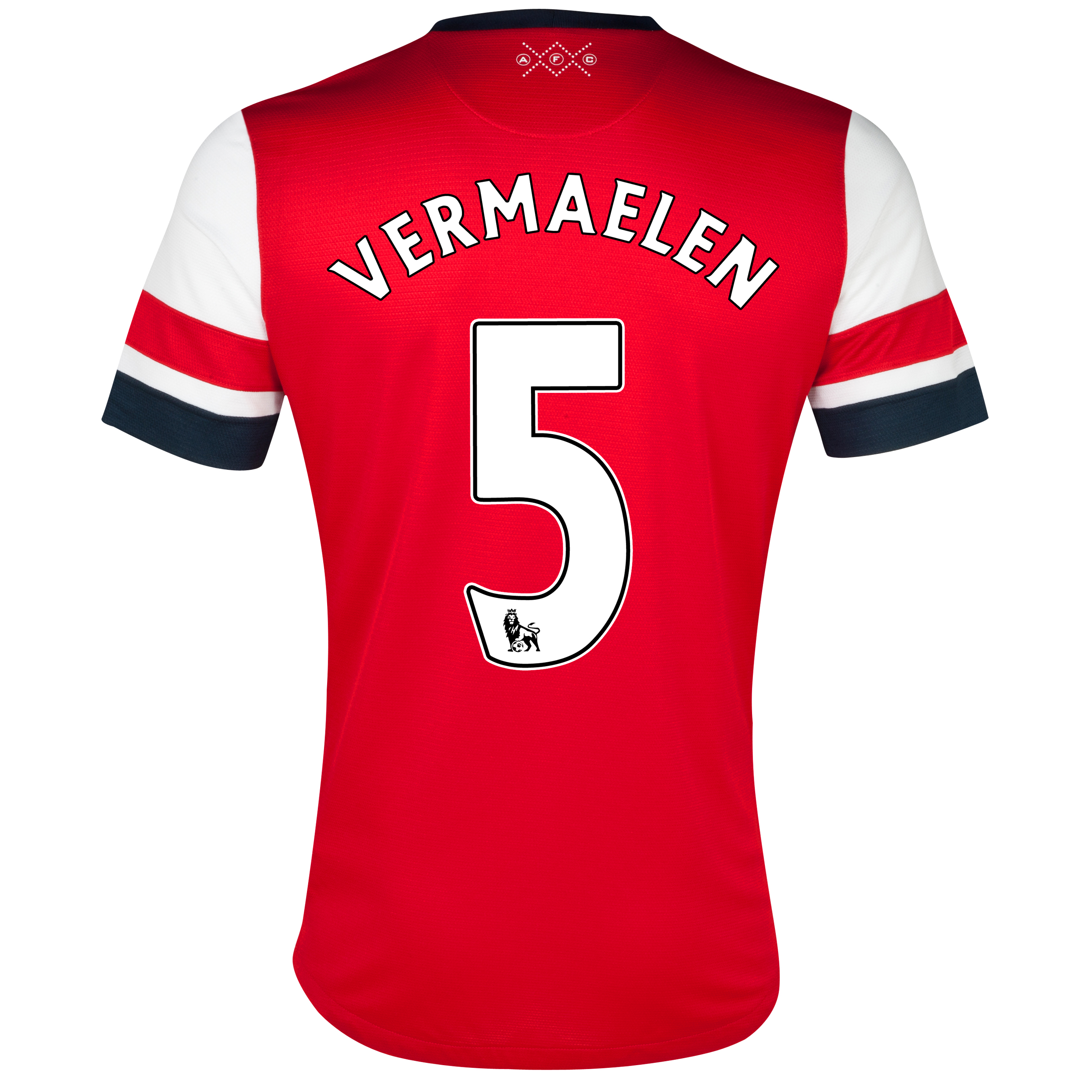 Arsenal Home Shirt 2012/14 - Womens with Vermaelen 5 printing