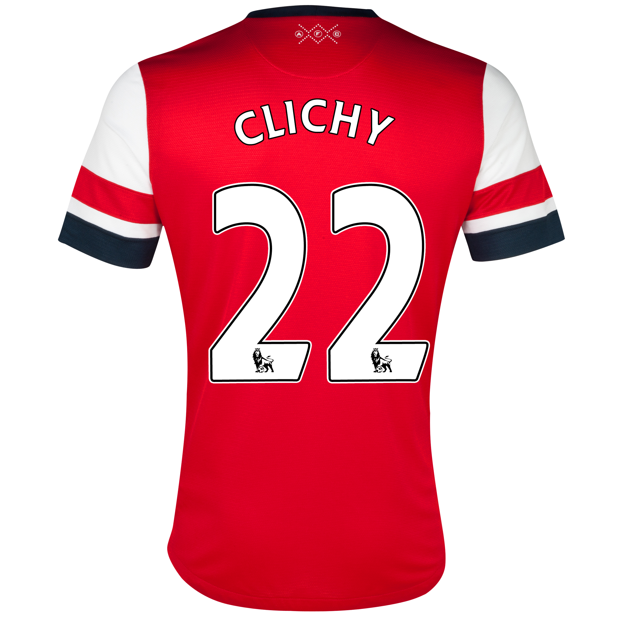 Arsenal Home Shirt 2012/13 - Womens with Clichy 22 printing