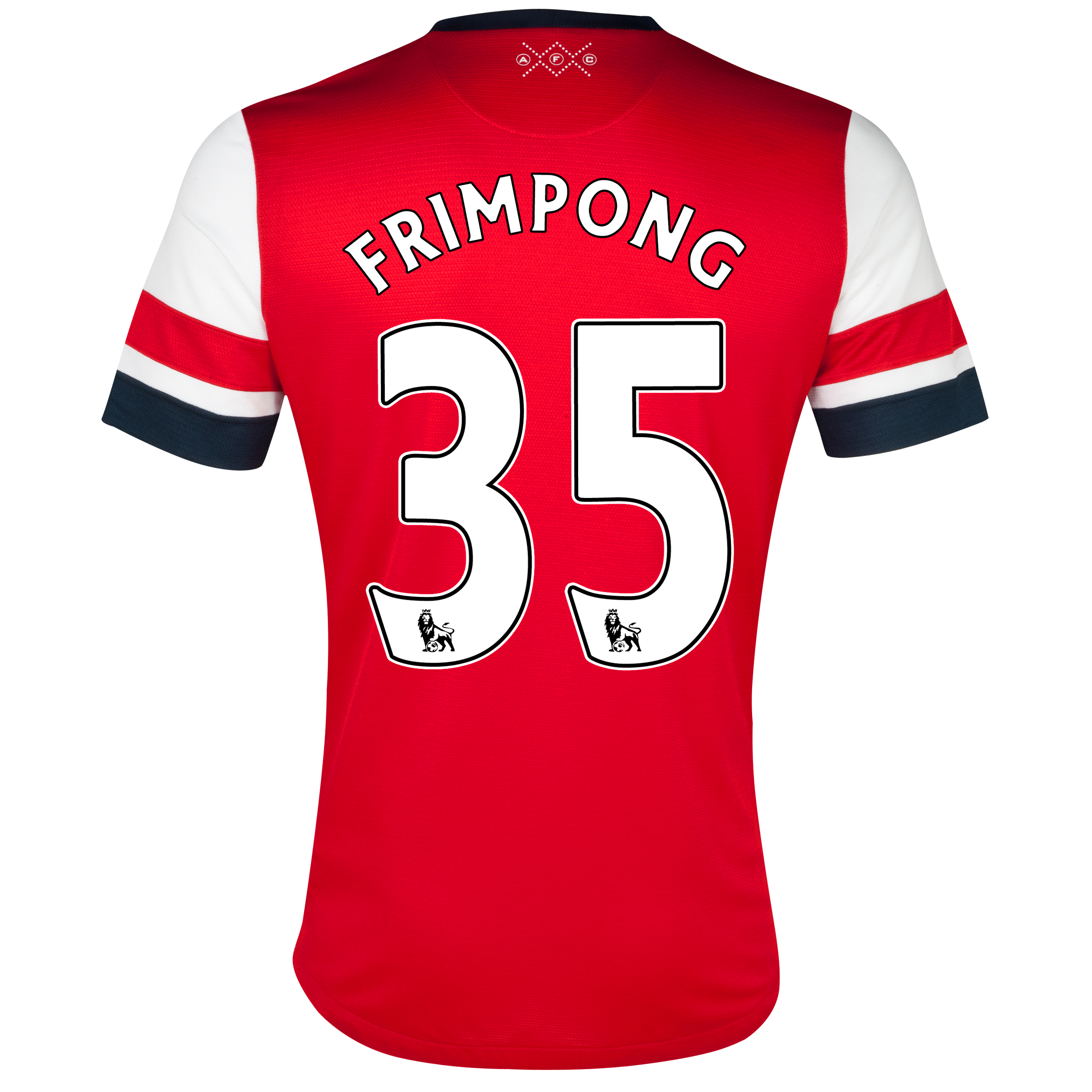 Arsenal  Home Shirt 2012/13 - Womens with Frimpong 35 printing