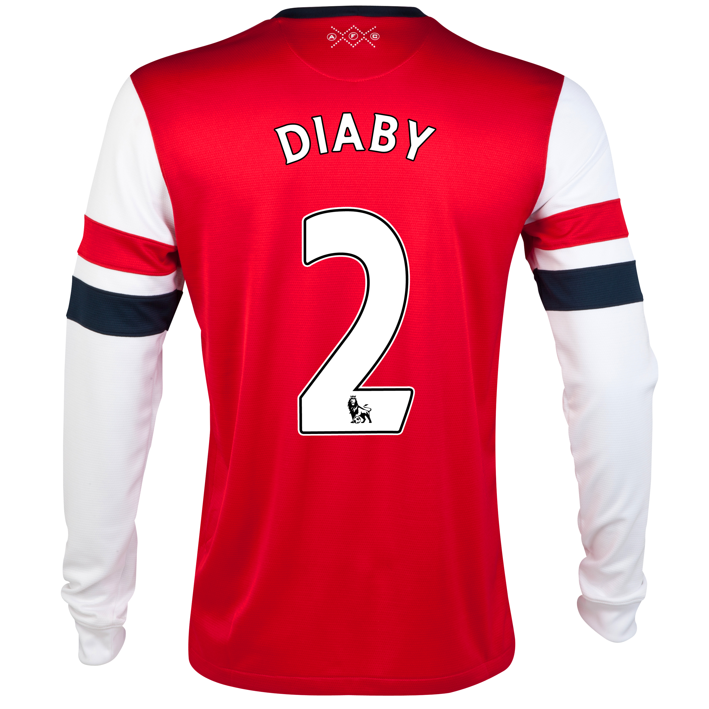 Arsenal Home Shirt 2012/14- Long Sleeved - Kids with Diaby 2 printing