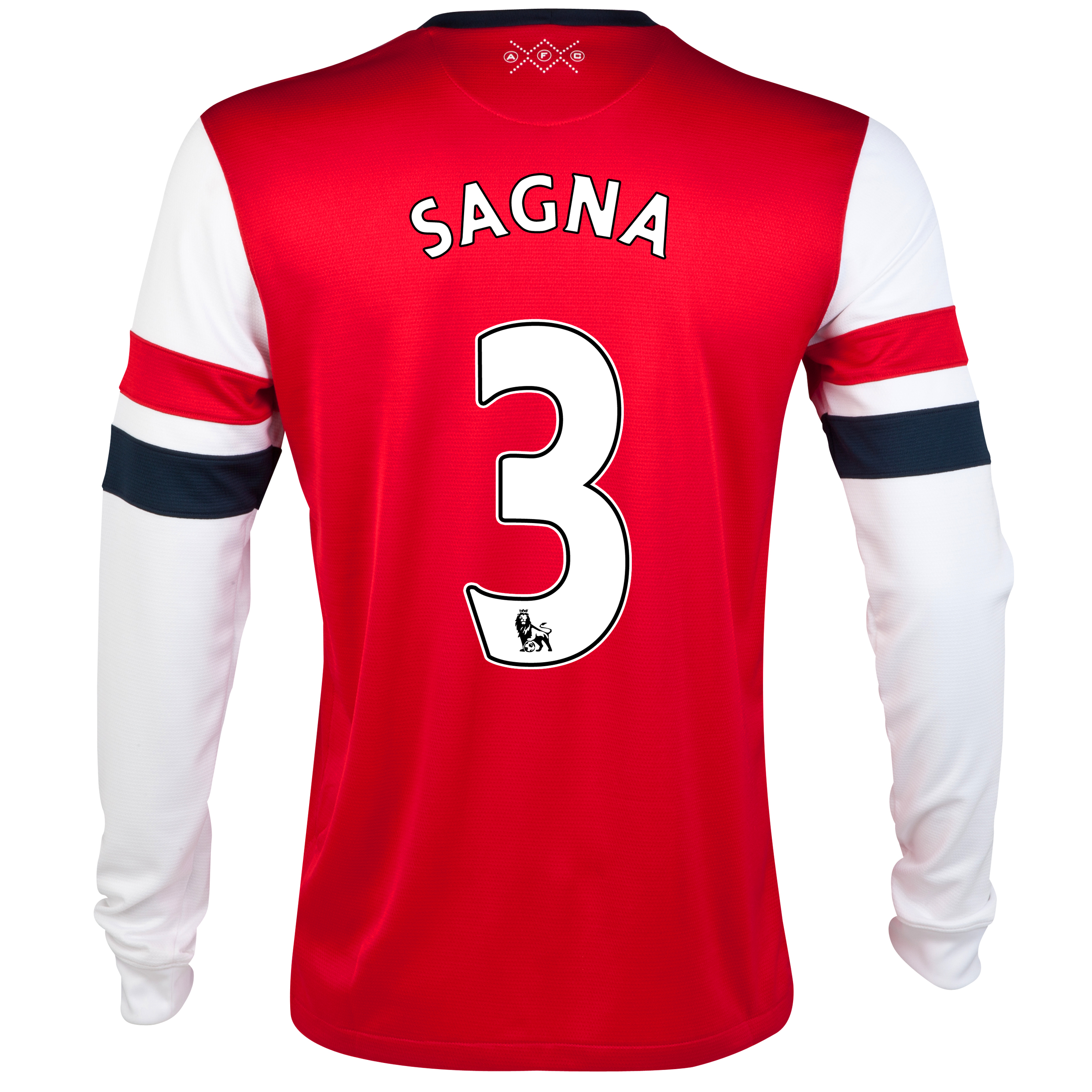 Arsenal Home Shirt 2012/14 - Long Sleeved - Kids with Sagna 3 printing