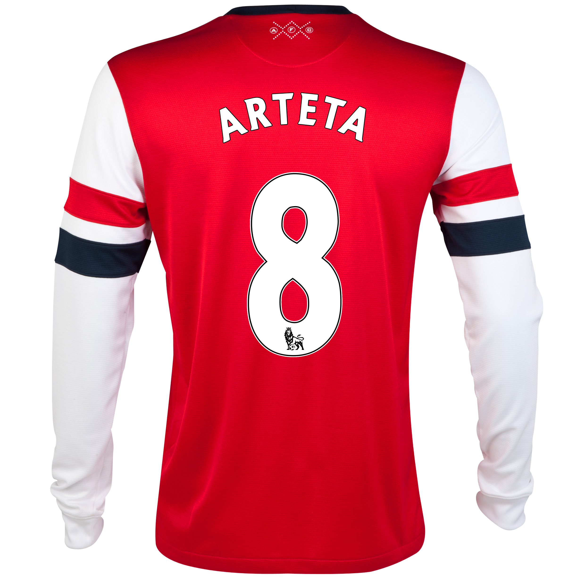 Arsenal Home Shirt 2012/14- Long Sleeved - Kids with Arteta 8 printing