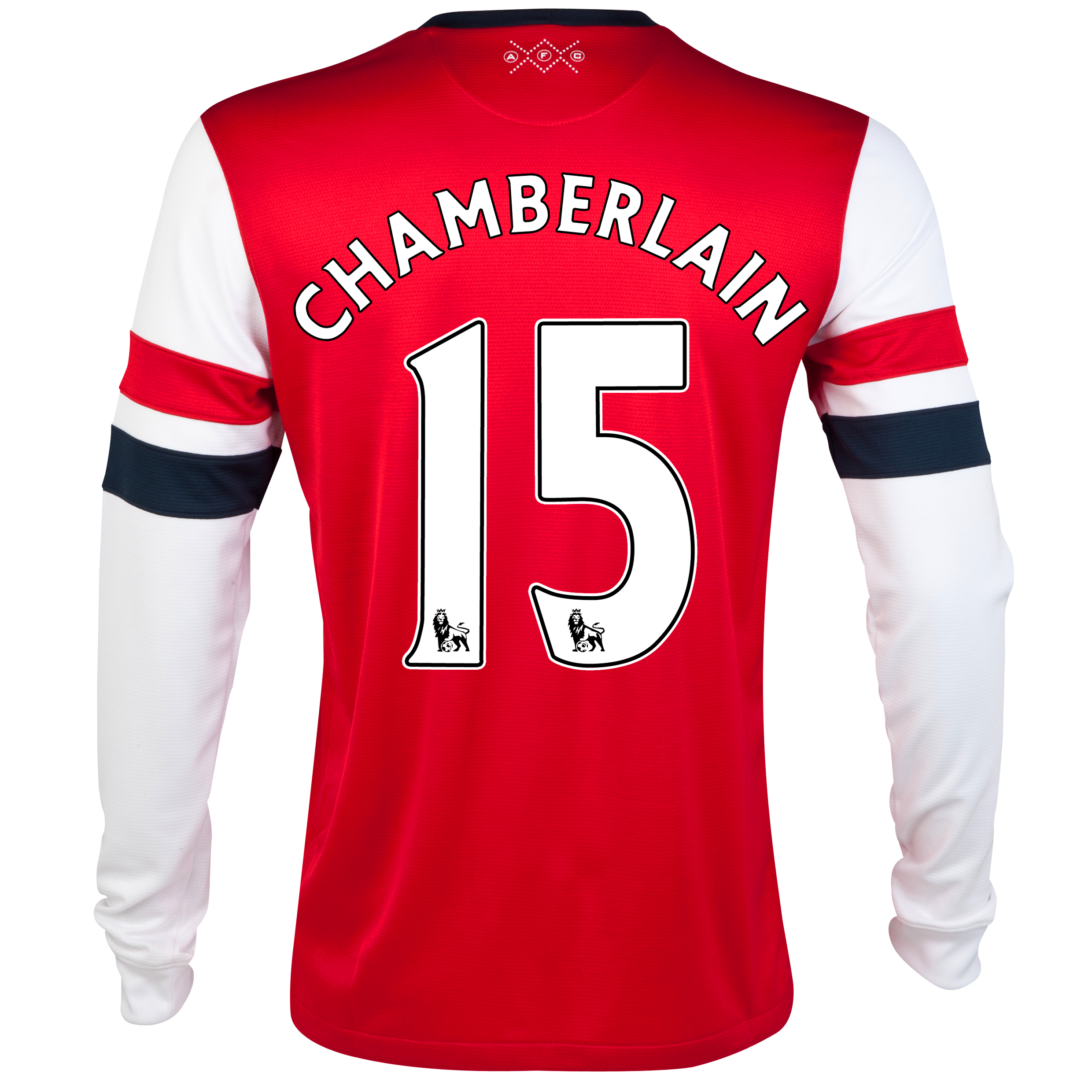 Arsenal  Home Shirt 2012/14 - Long Sleeved - Kids with Chamberlain 15 printing