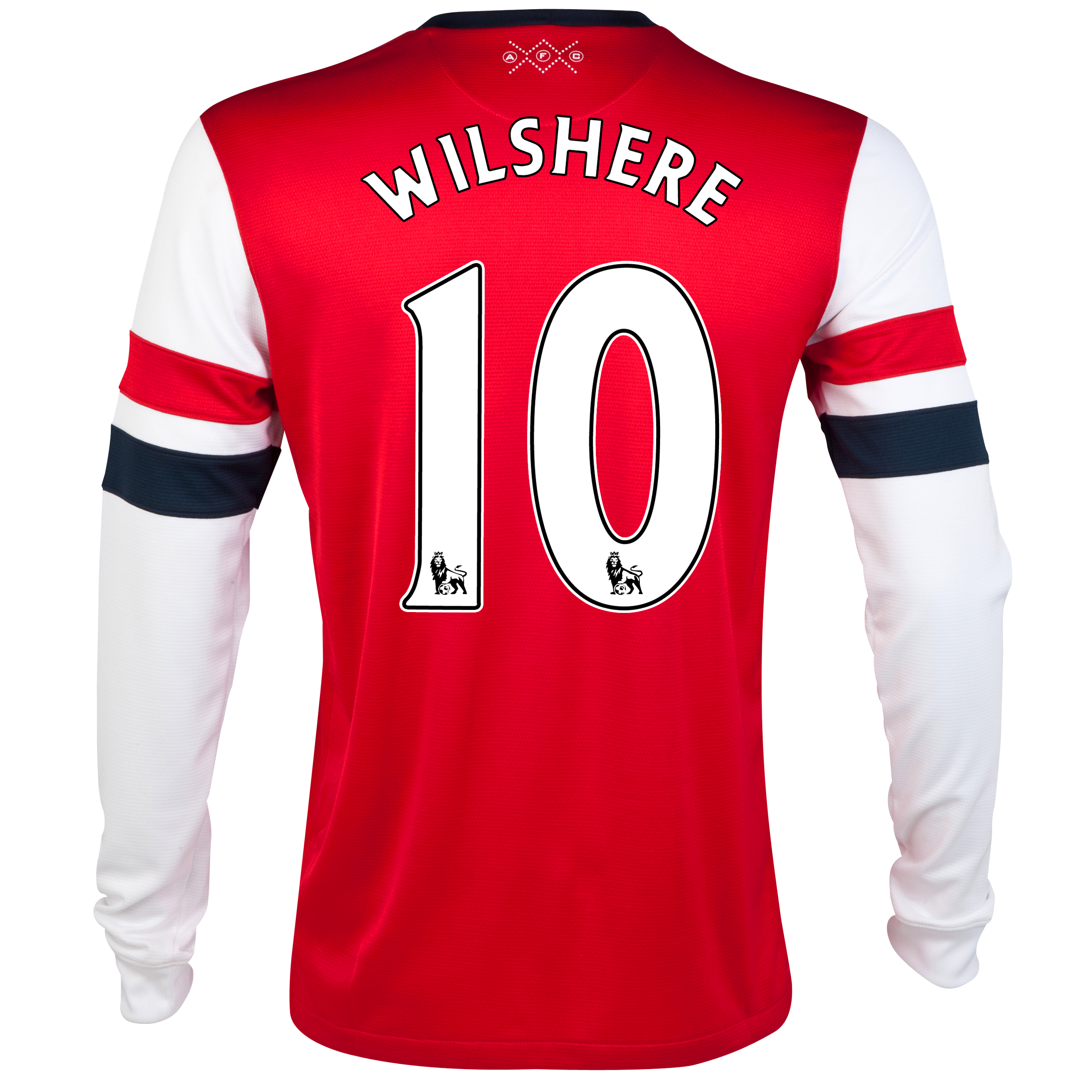 Arsenal  Home Shirt 2012/14- Long Sleeved - Kids with Wilshere 10 printing