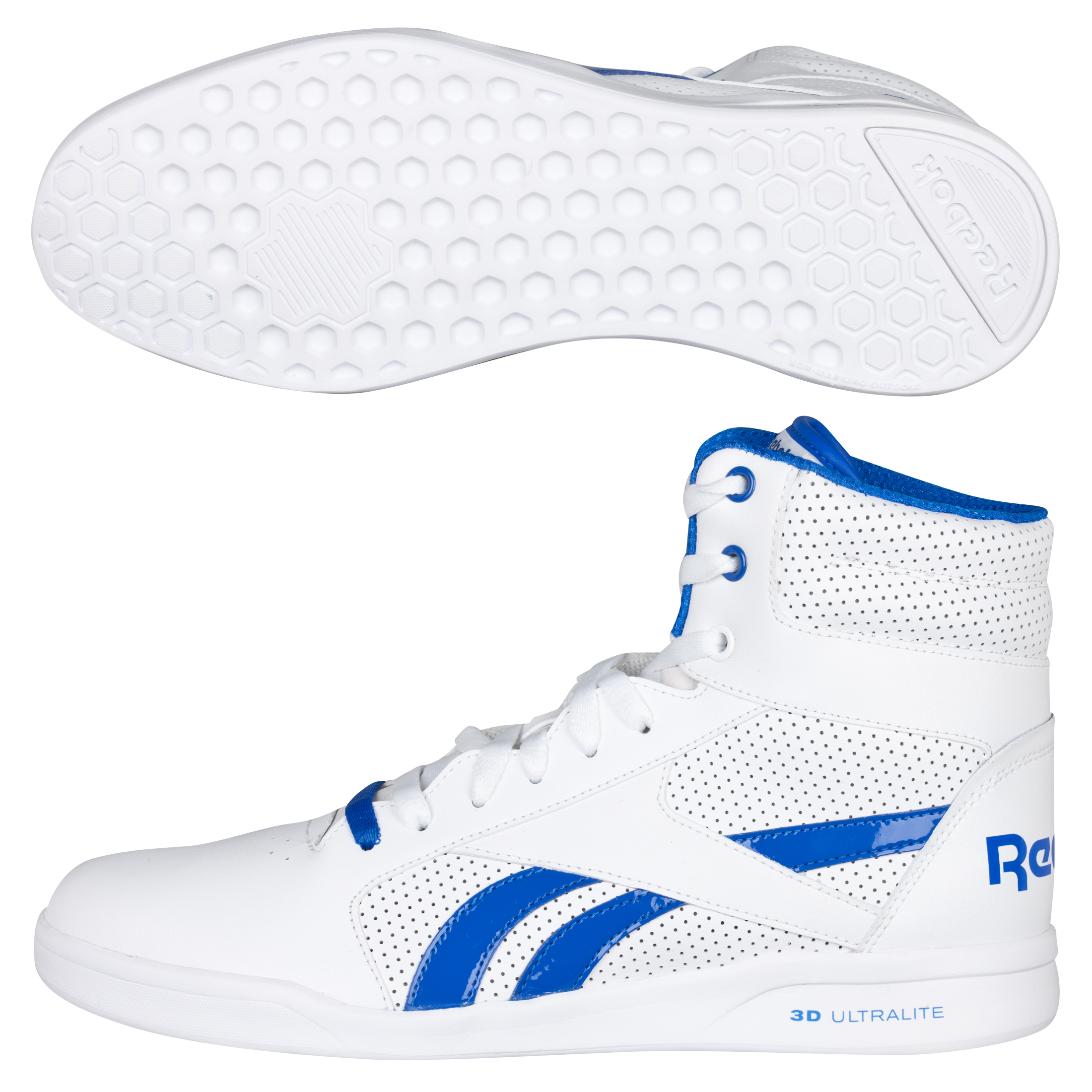 Reebok SL Fitness Ultralite Hi Trainers - White/Vital Blue