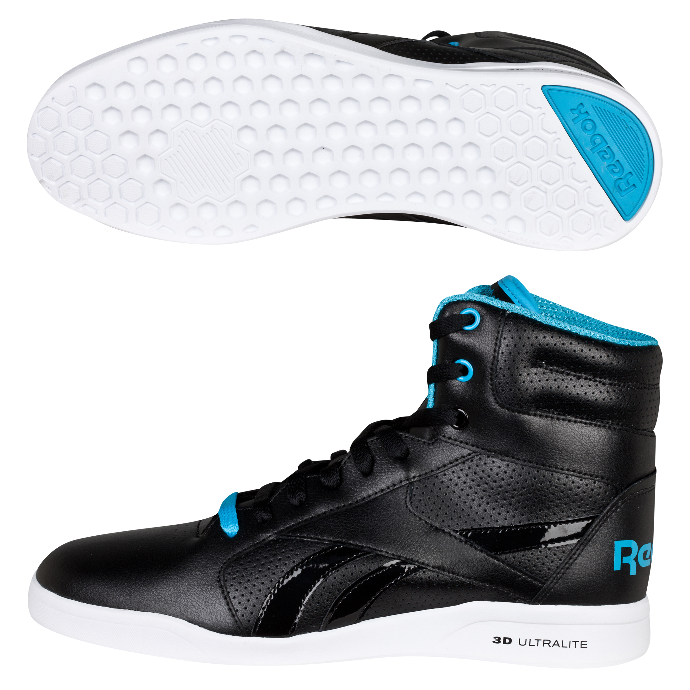 Reebok SL Ultralite Hi Trainers - Black/Buzz Blue/White