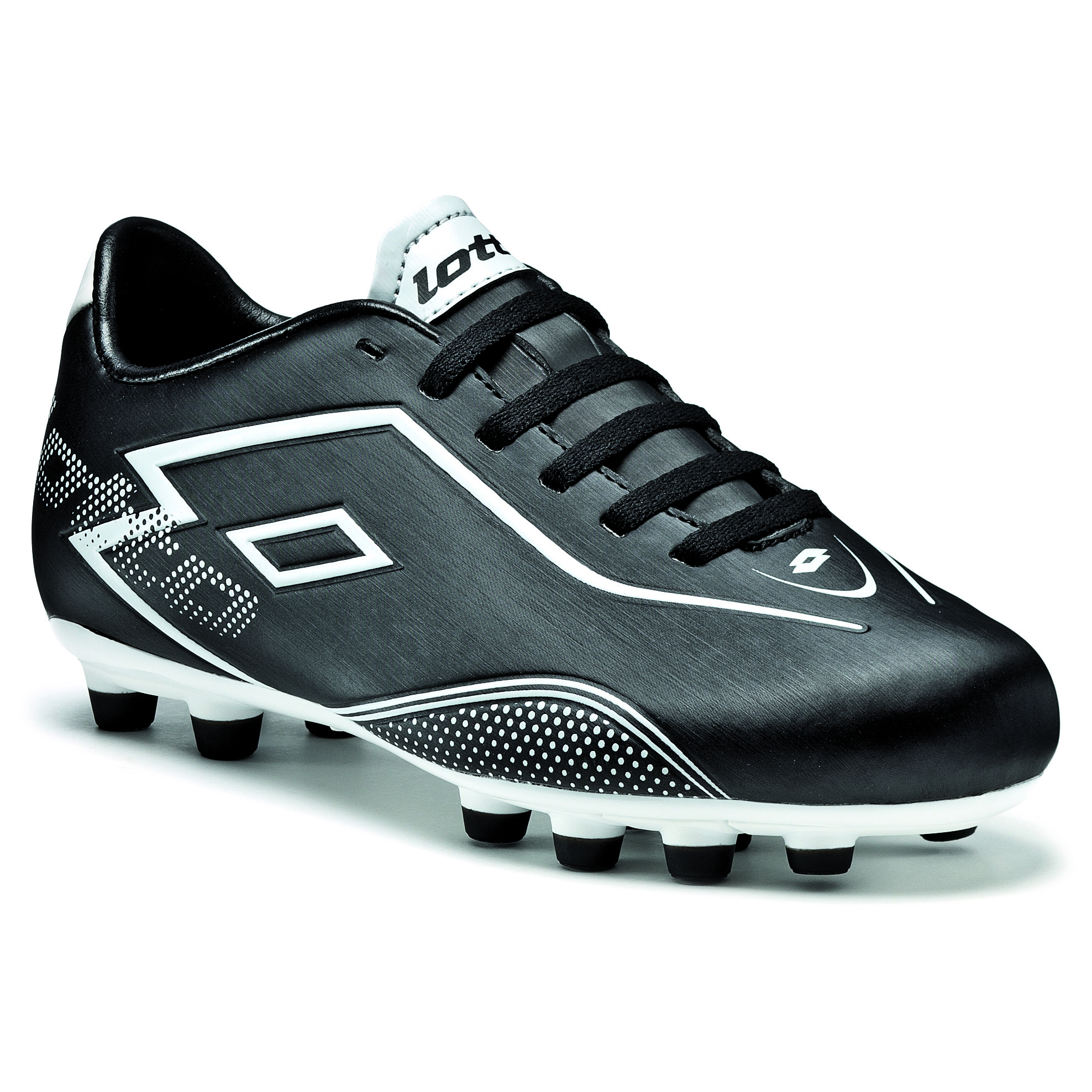 Lotto Zhero Gravity.II 700 Firm Ground Football Boots - Black/White - Kids