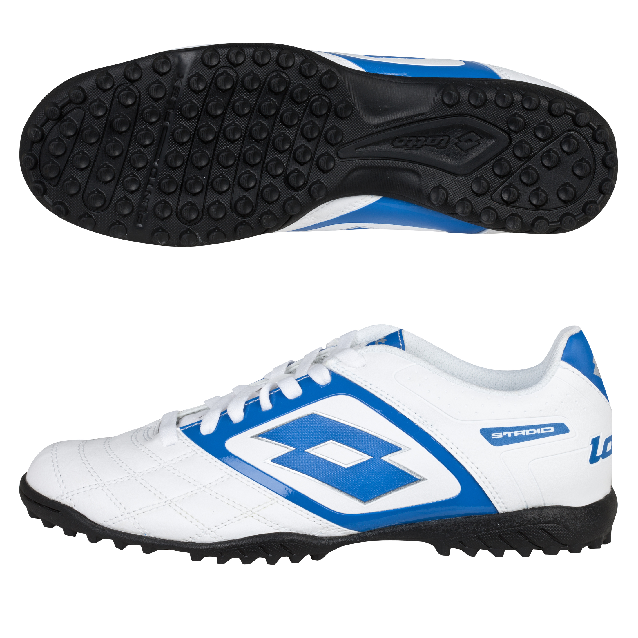 Lotto Stadio Potenza II 700 Astro Turf Trainers - White/Blue