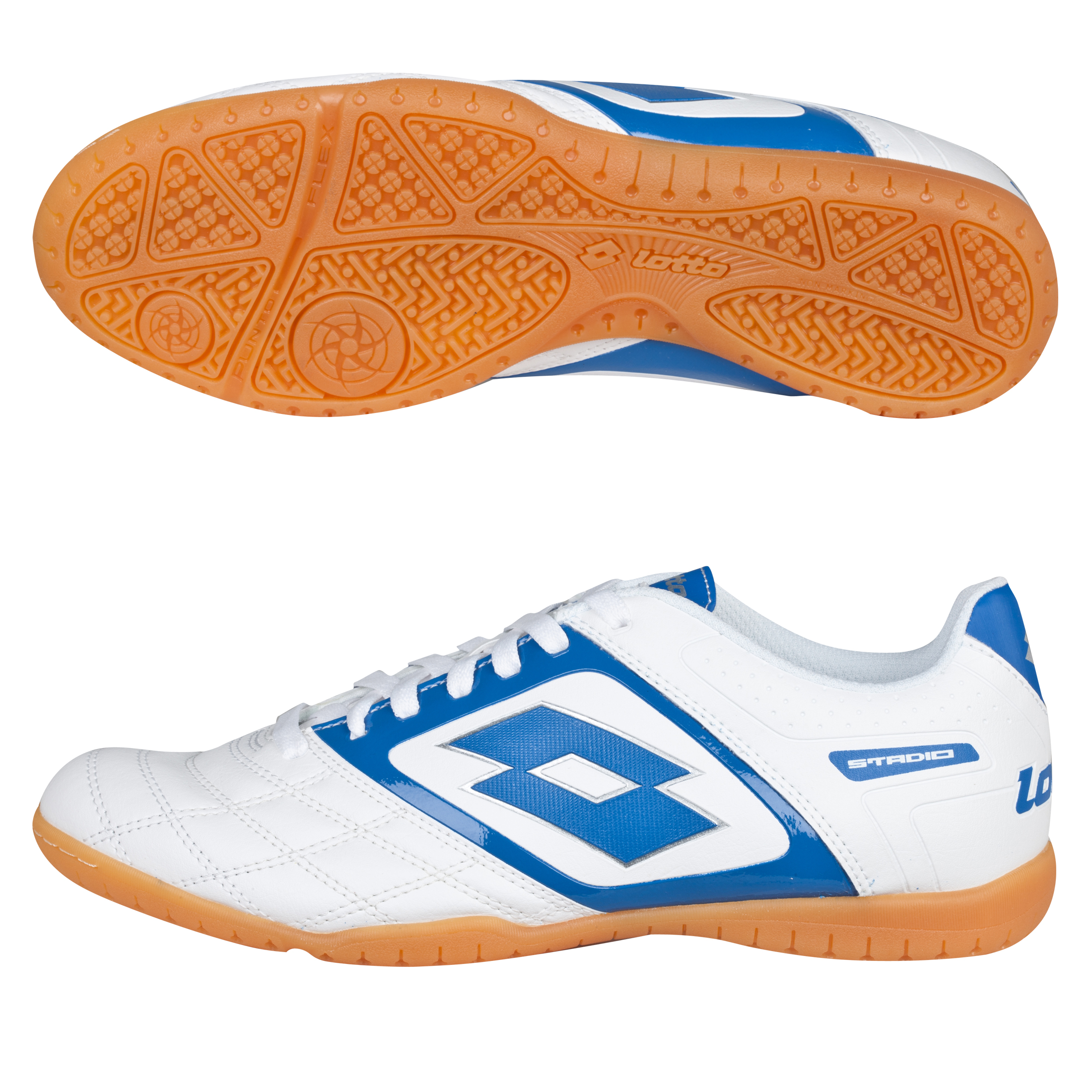 Lotto Stadio Potenza II 700 Indoor Trainers - White/Blue