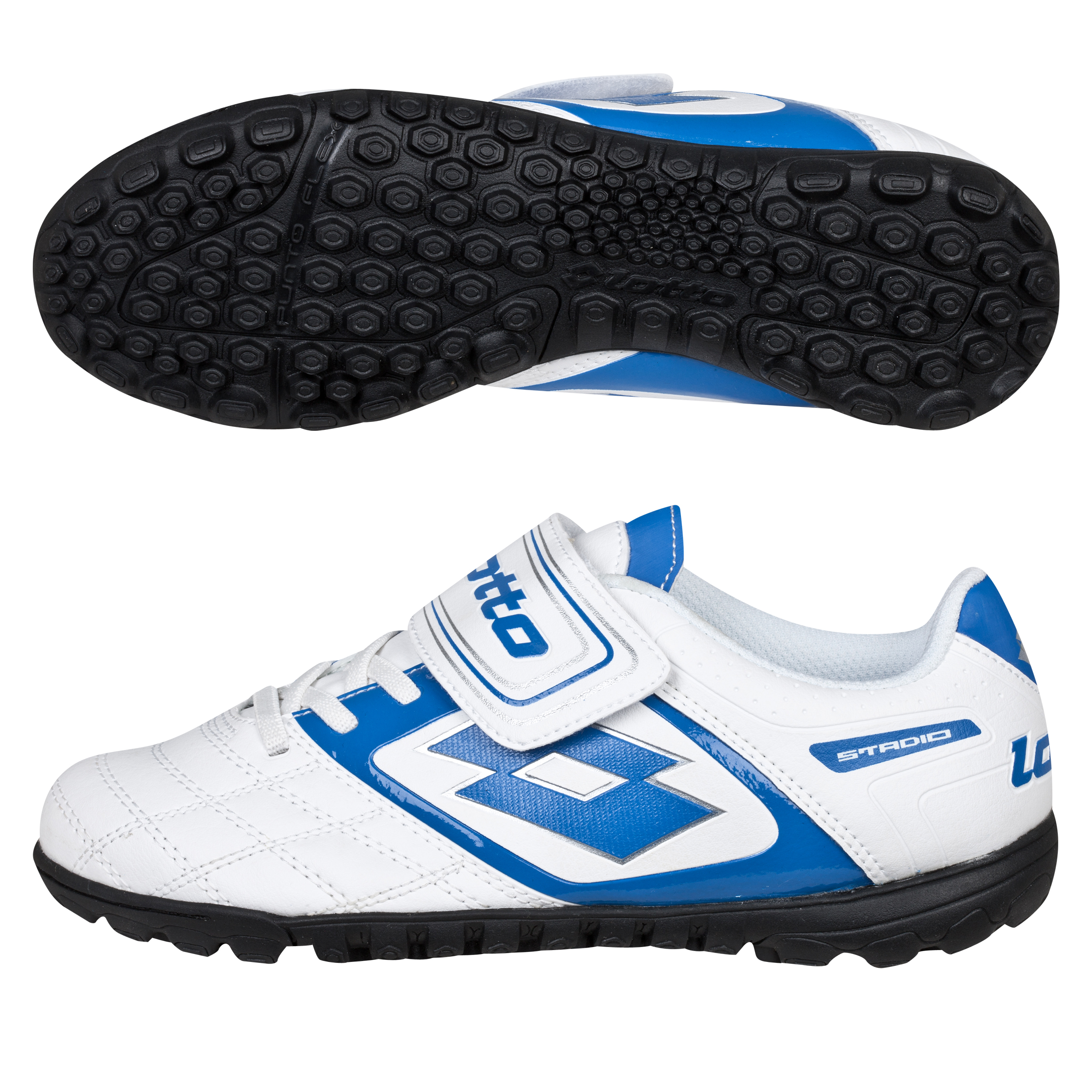 Lotto Stadio Potenza.II 700 Astro Turf Trainers - White/Blue - Kids