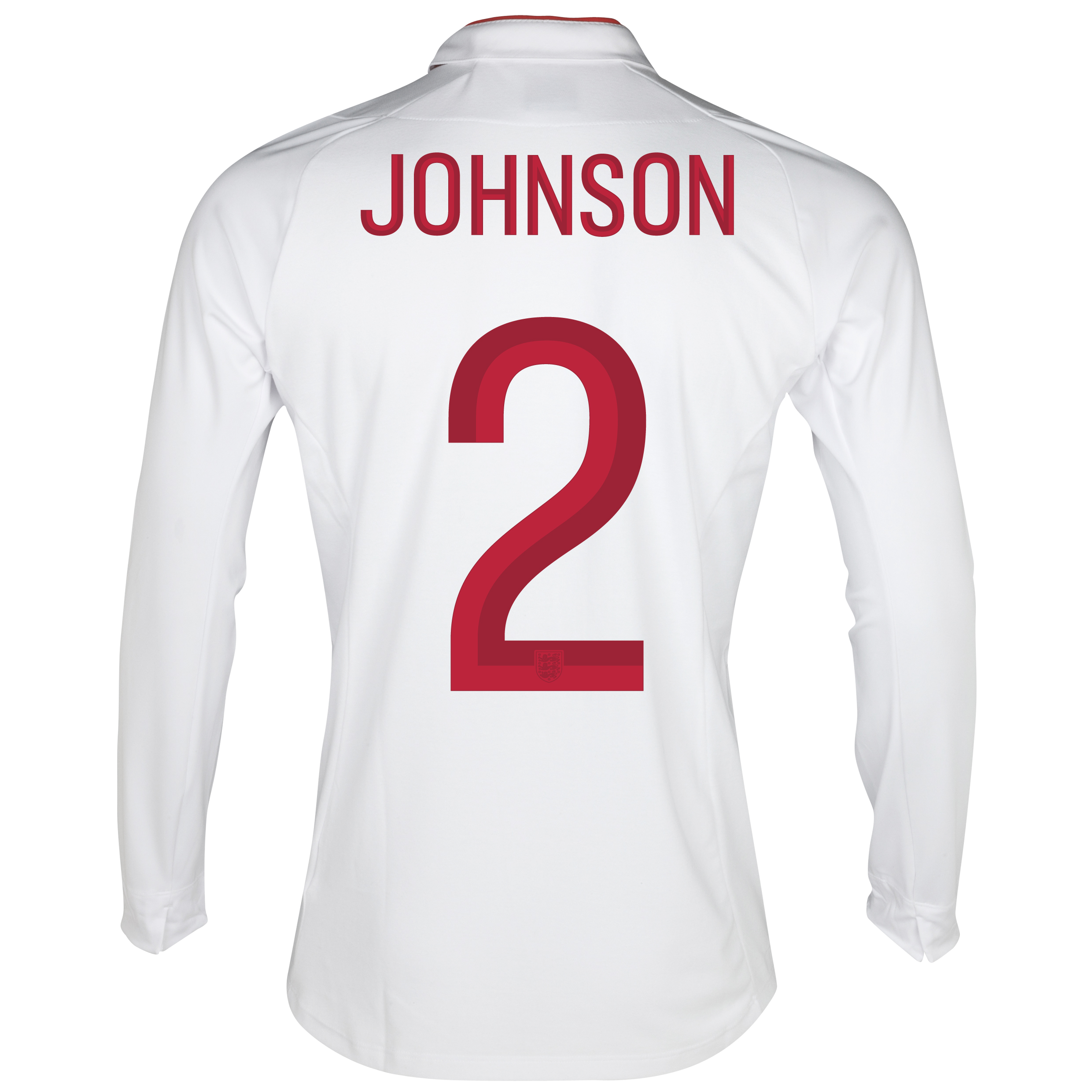 England Home Shirt 2012/13 - Long Sleeve - Boys with Johnson 2 printing