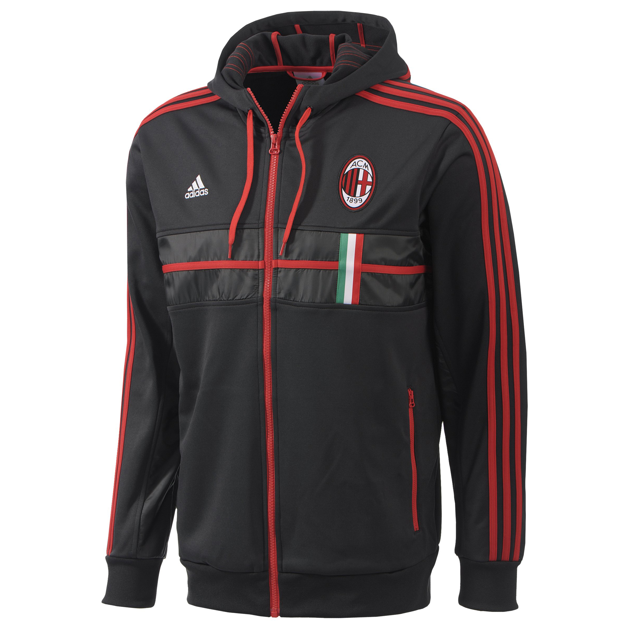 AC Milan Anthem Jacket - Black/ACM Red