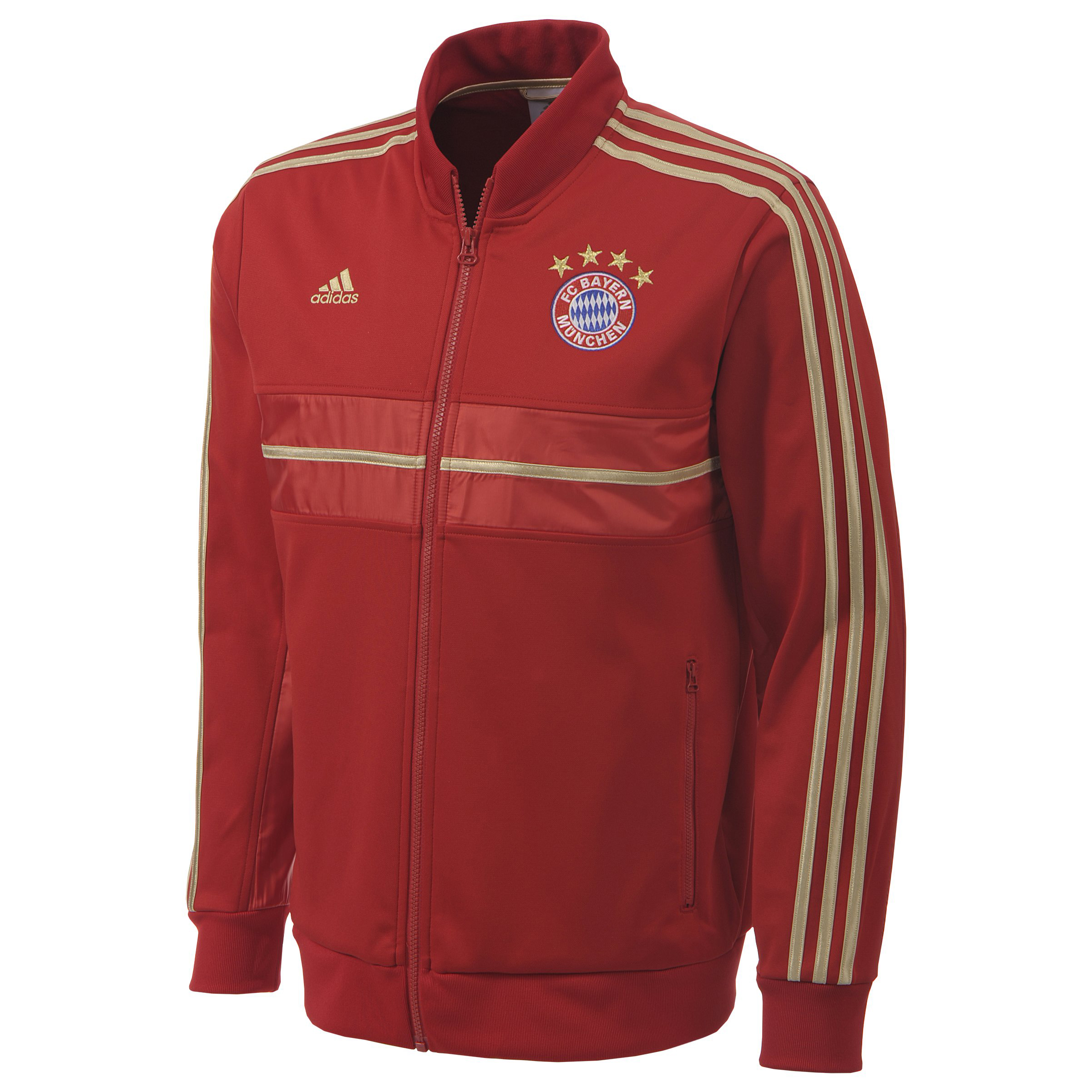 Bayern Munich Anthem Jacket - University Red/Light Football Gold