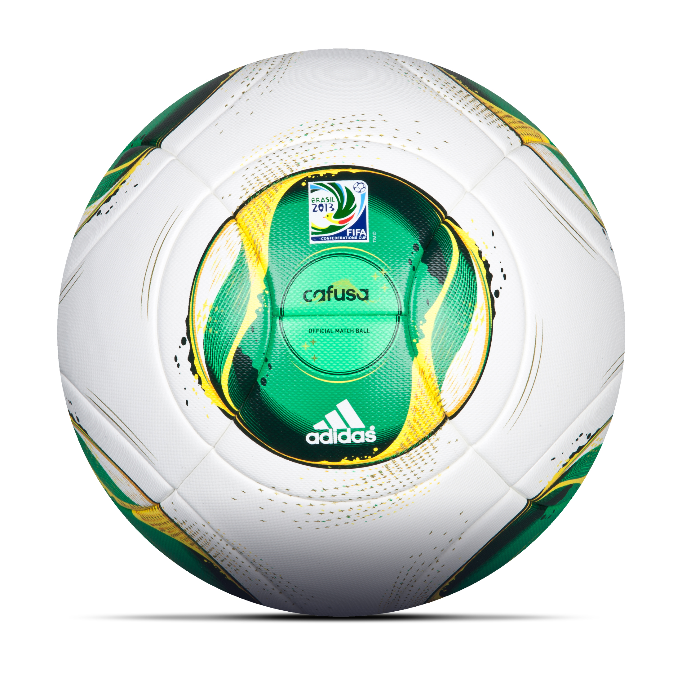 Adidas CONFED Cup Official Match Ball - White/Vivid Yellow/Vivid Green/Dark Blue