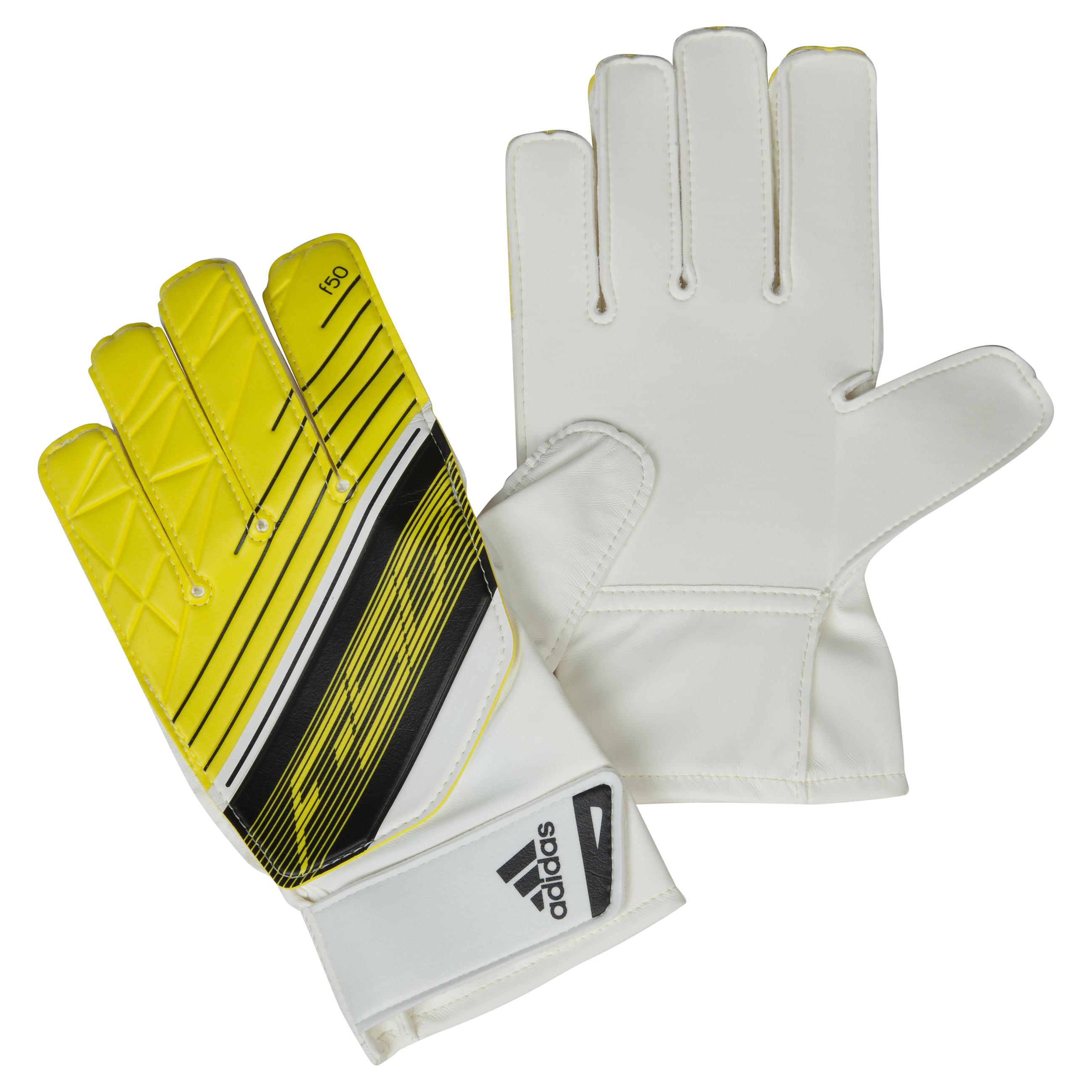 Adidas F50 Training Goalkeeper Gloves - Vivid Yellow S13/White/Black