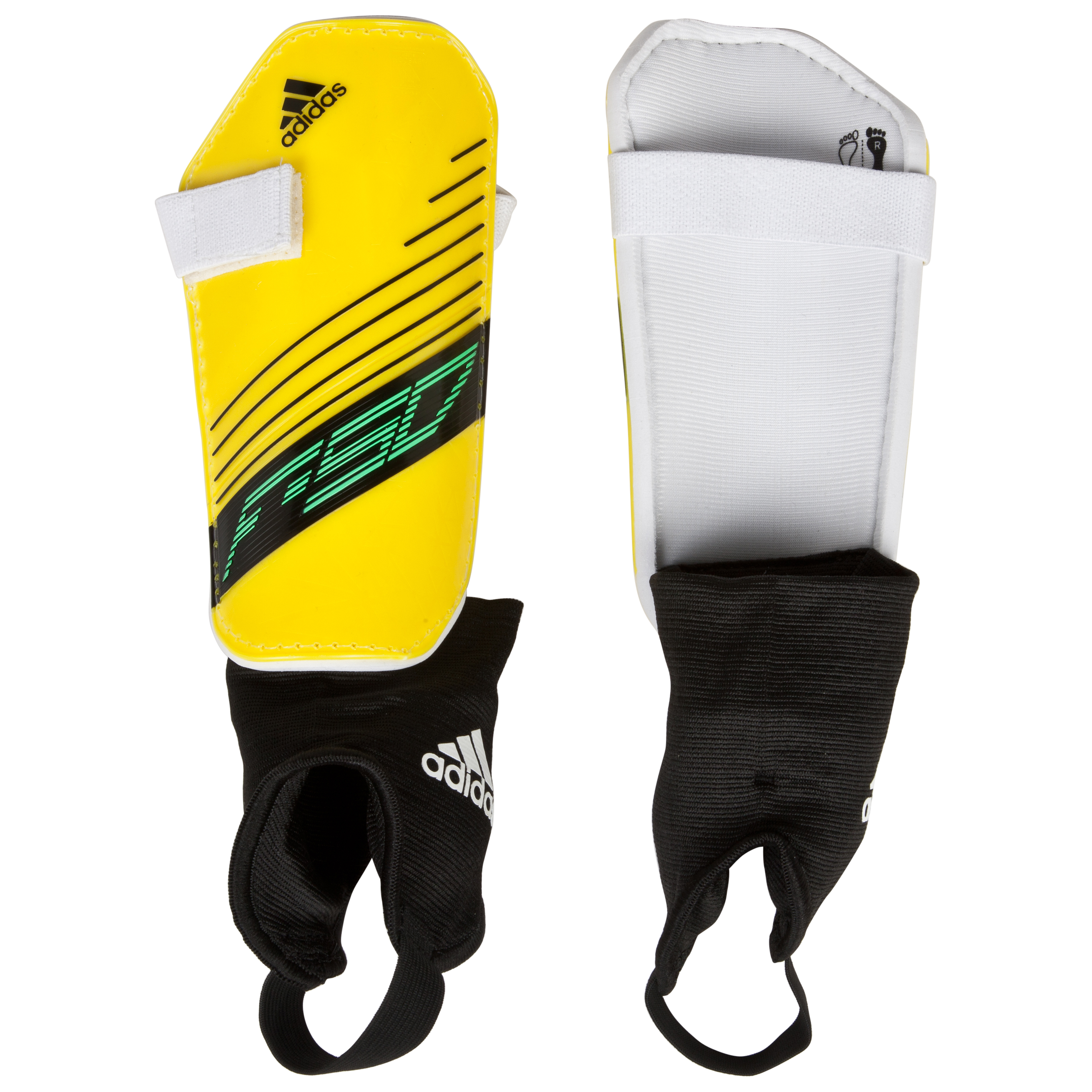 adidas F50 Replique Shinpads - Vivid Yellow S13/White/Black/Green Zest
