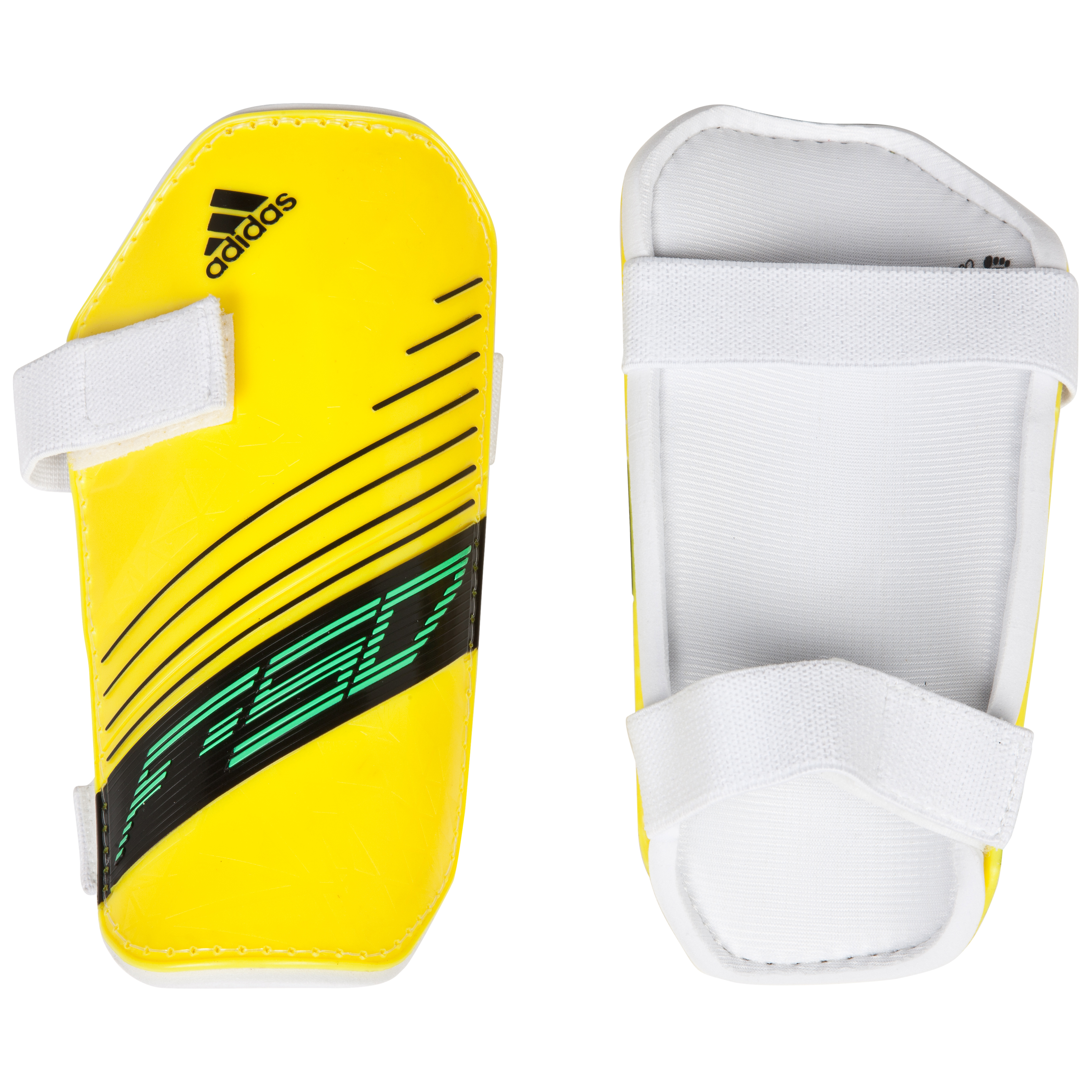 adidas F50 Lite Shinpads - Vivid Yellow S13/White/Black/Green Zest