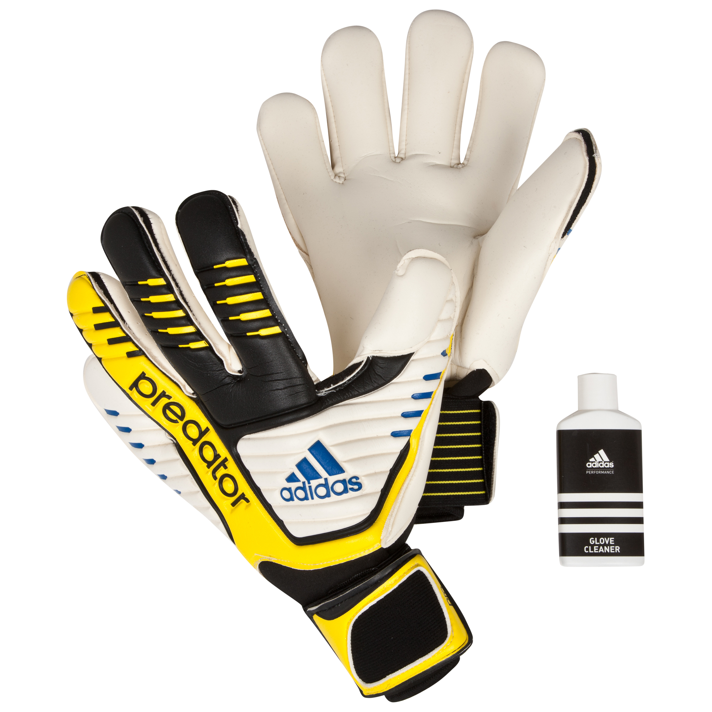 adidas Predator Pro Goalkeeper Gloves - Black/White/Vivid Yellow /Prime Blue