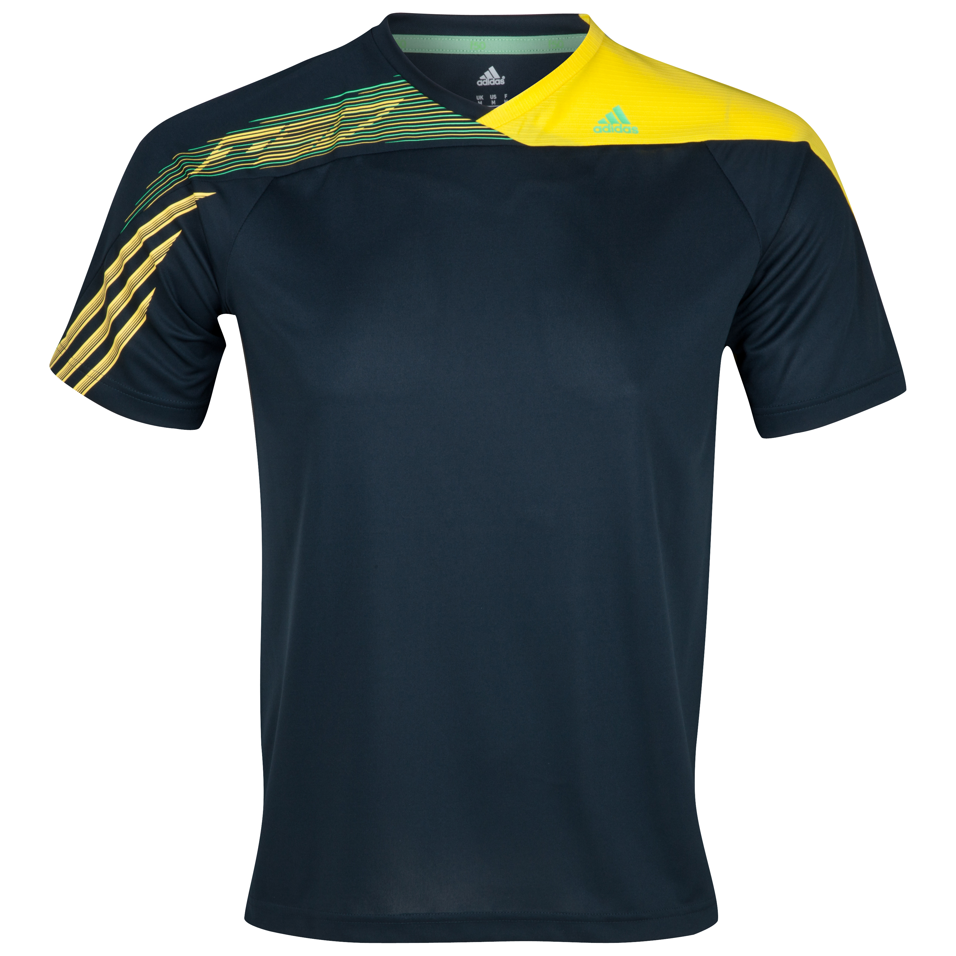 adidas F50 Climalite Tee - Tech Onix /Vivid Yellow /Green Zest