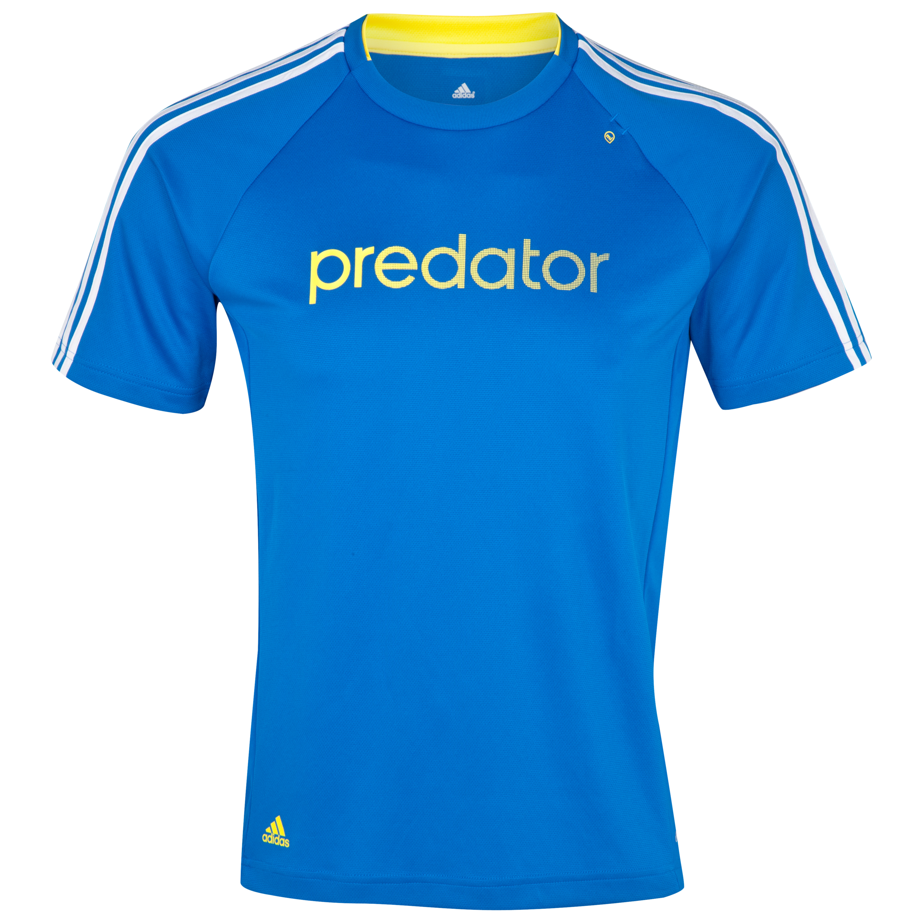 adidas Predator Climalite Tee - Prime Blue S12/White/Vivid Yellow