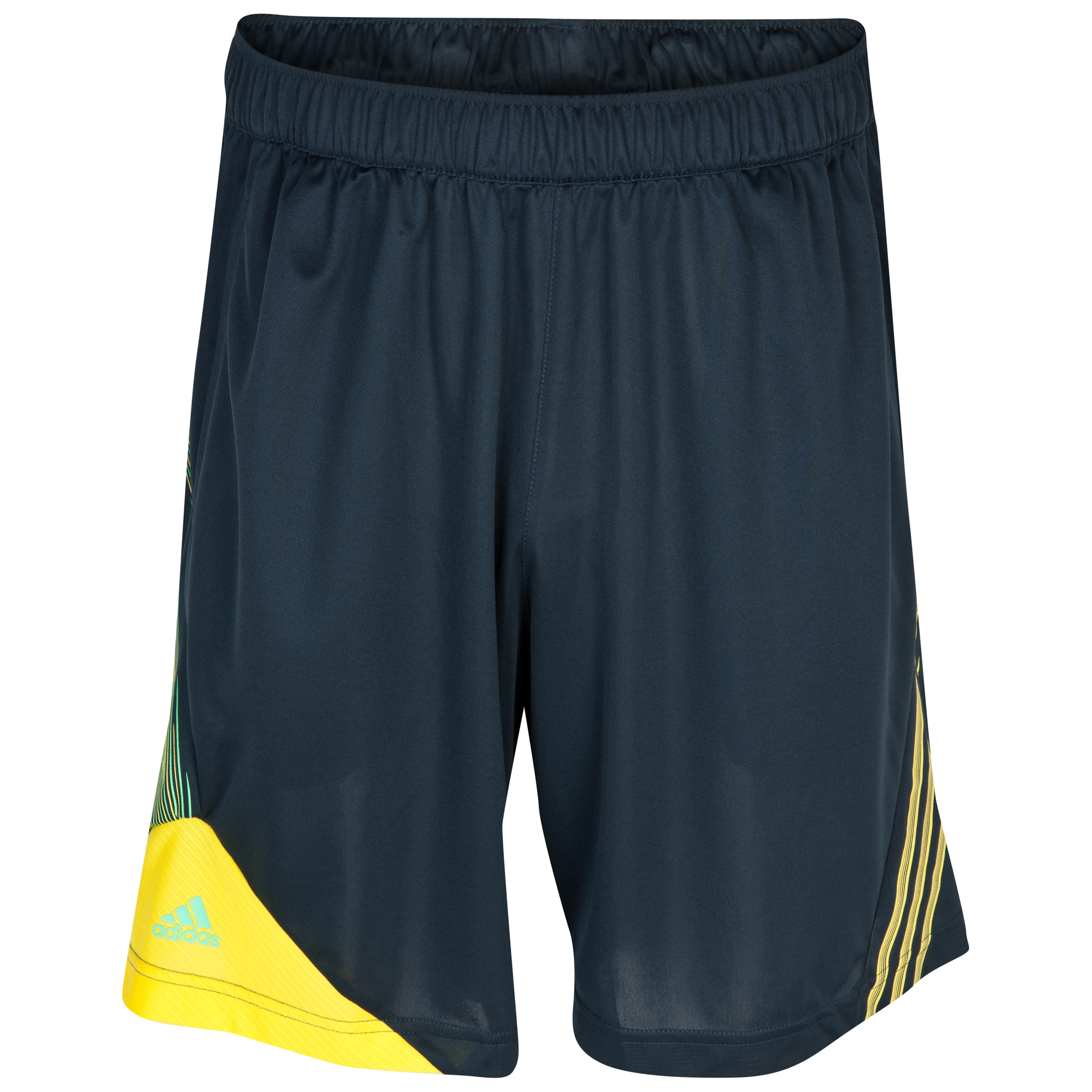 Adidas F50 Training Short - Tech Onix /Vivid Yellow /Green Zest