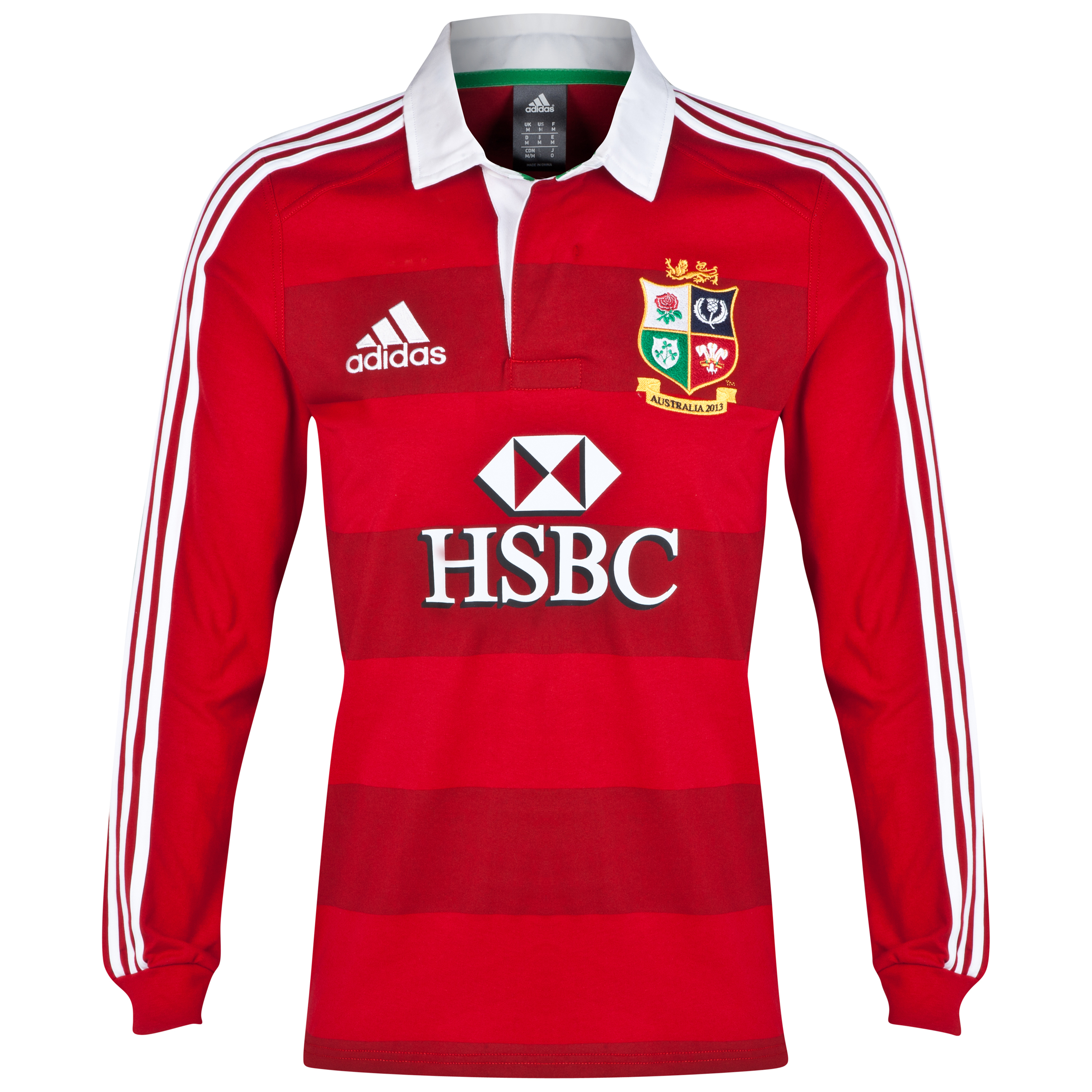 British & Irish Lions Supporters Shirt - Long Sleeve - University Red/White