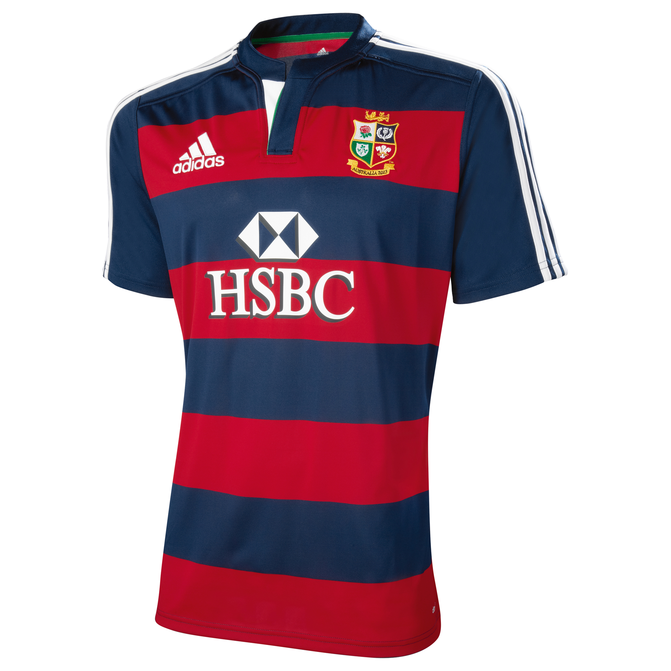 adidas British and Irish Lions Pre-Match Training Top - Short Sleeve - University Red/Collegiate Navy