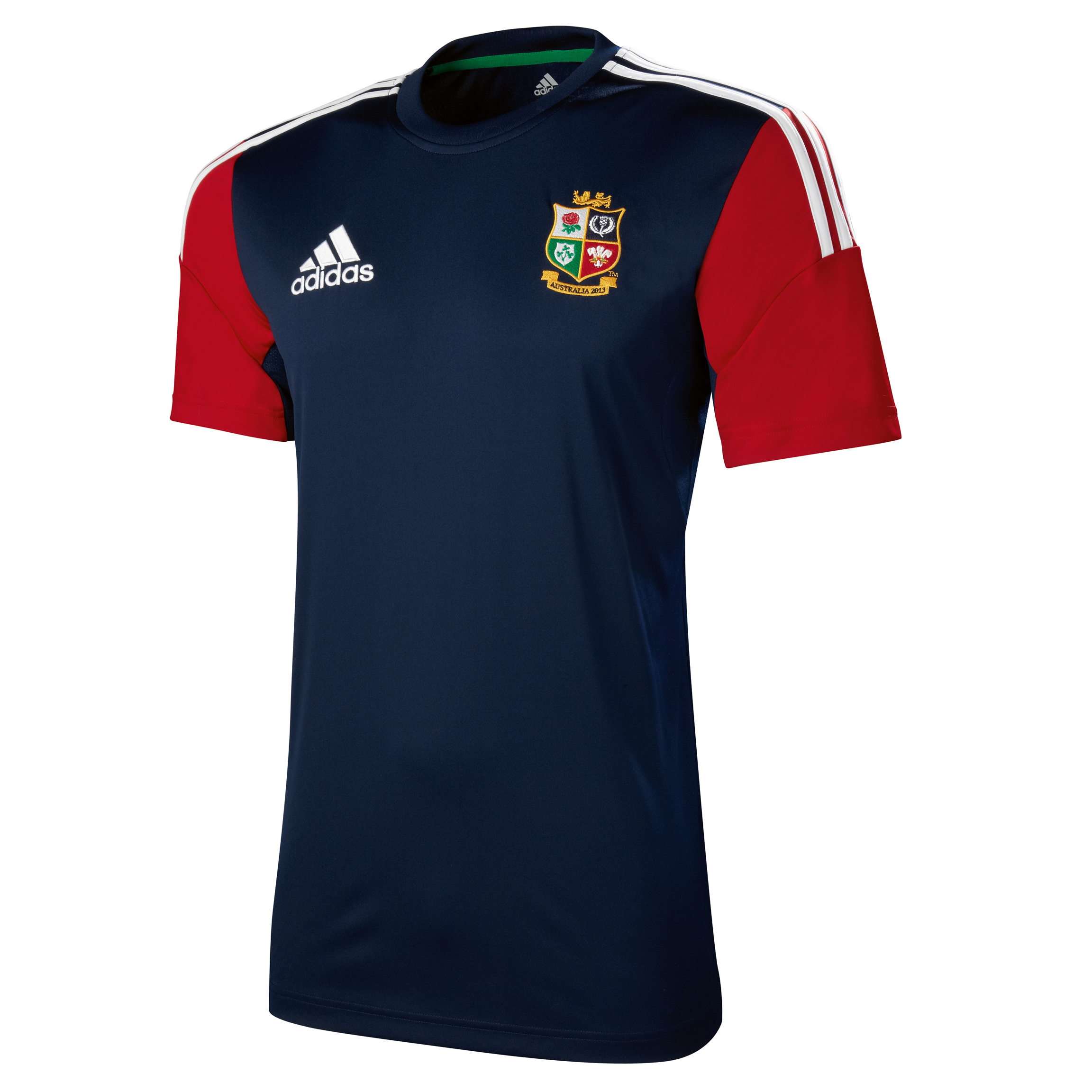 adidas British and Irish Lions Performance T-Shirt - Collegiate Navy/University Red/White