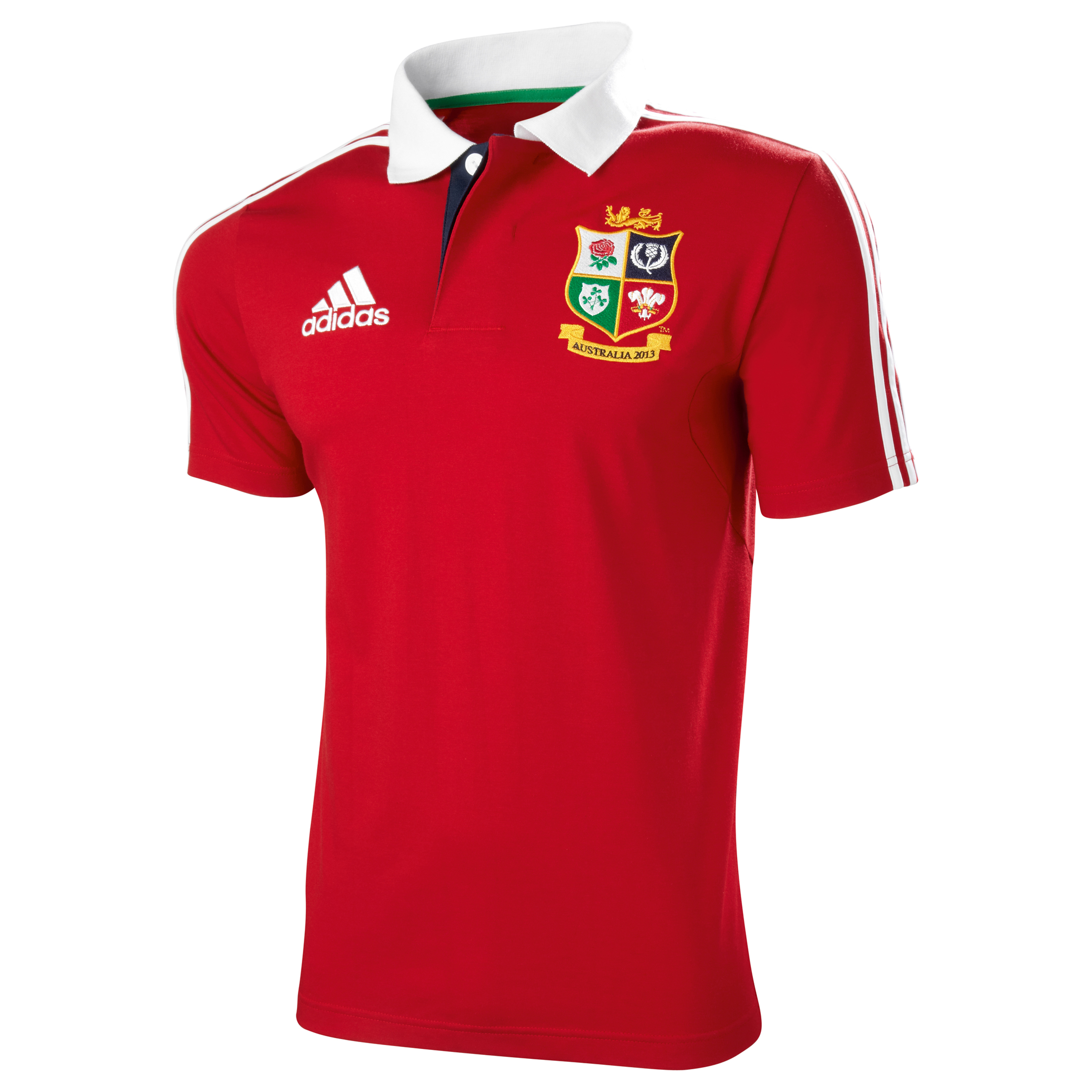adidas British and Irish Lions Polo - University Red/White