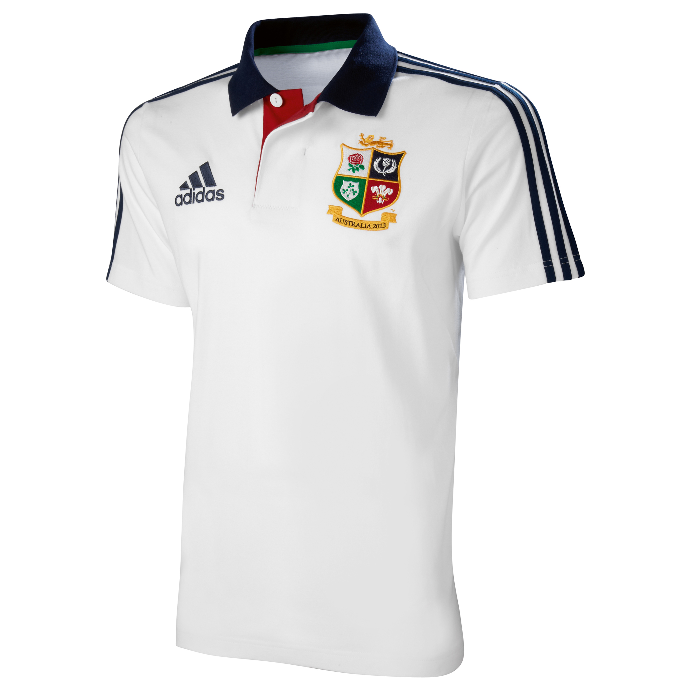 adidas British and Irish Lions Polo - White/Collegiate Navy
