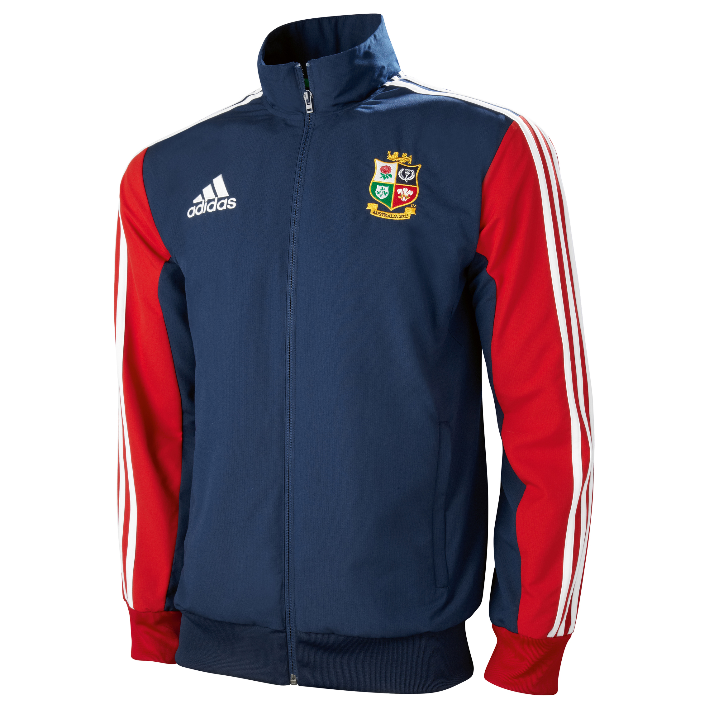 adidas British and Irish Lions Presentation Jacket - Collegiate Navy/University Red/White