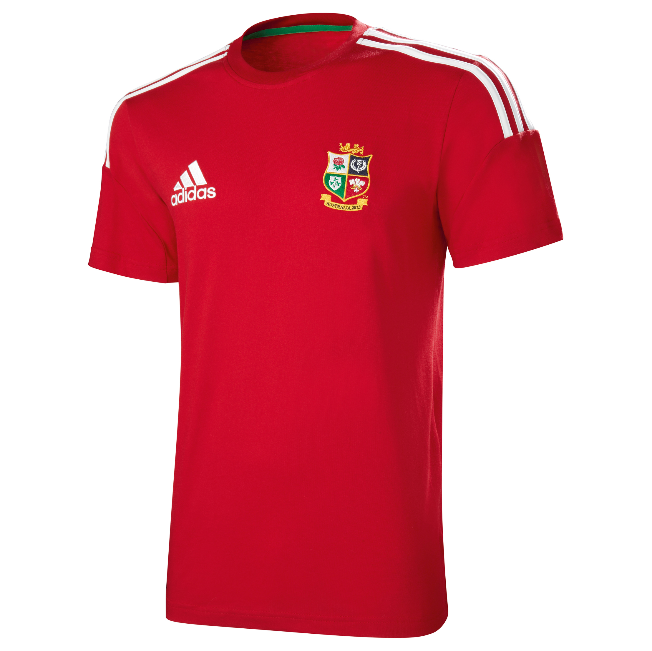 adidas British and Irish Lions T-Shirt - University Red/White
