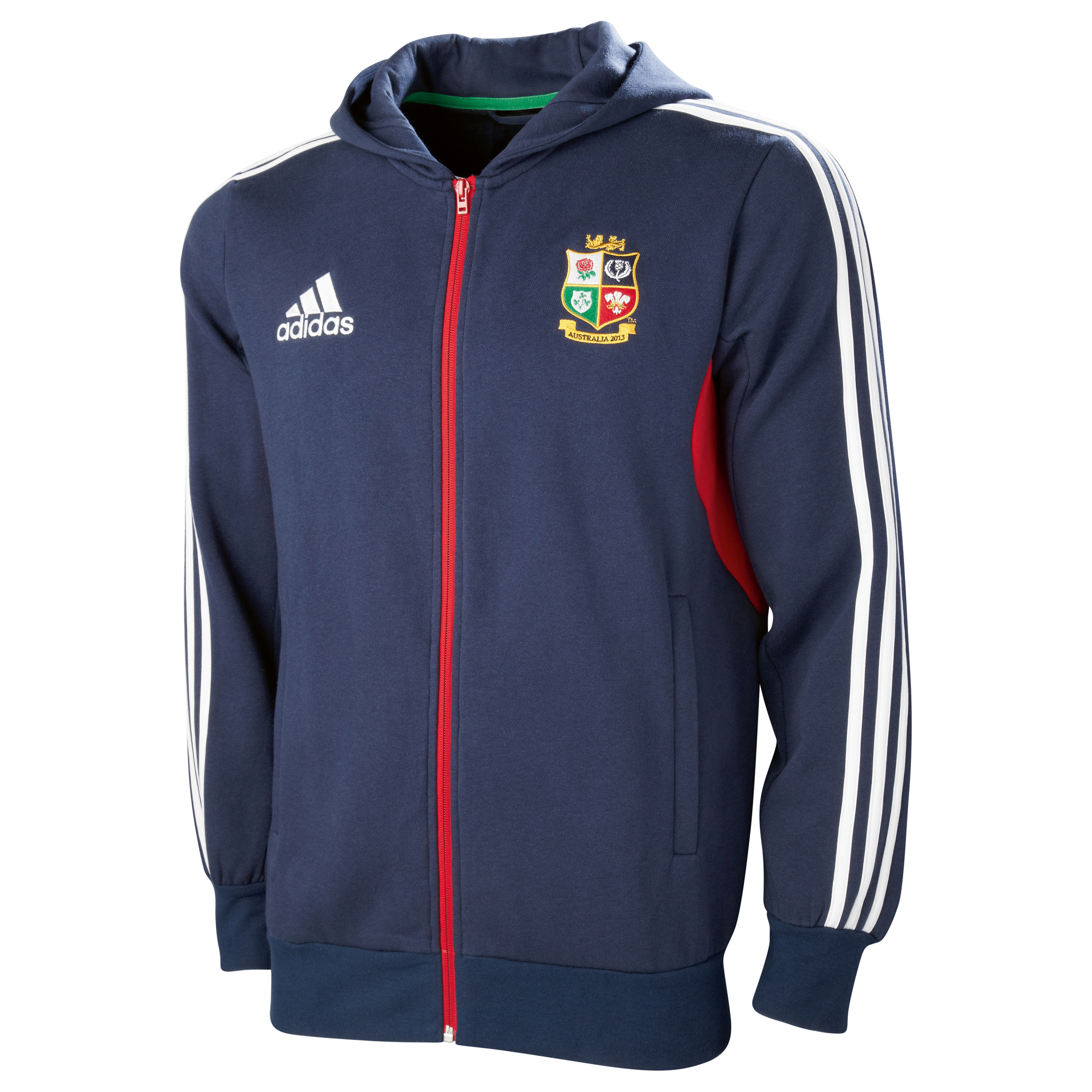 British & Irish Lions Hooded Sweatshirt - Collegiate Navy/White