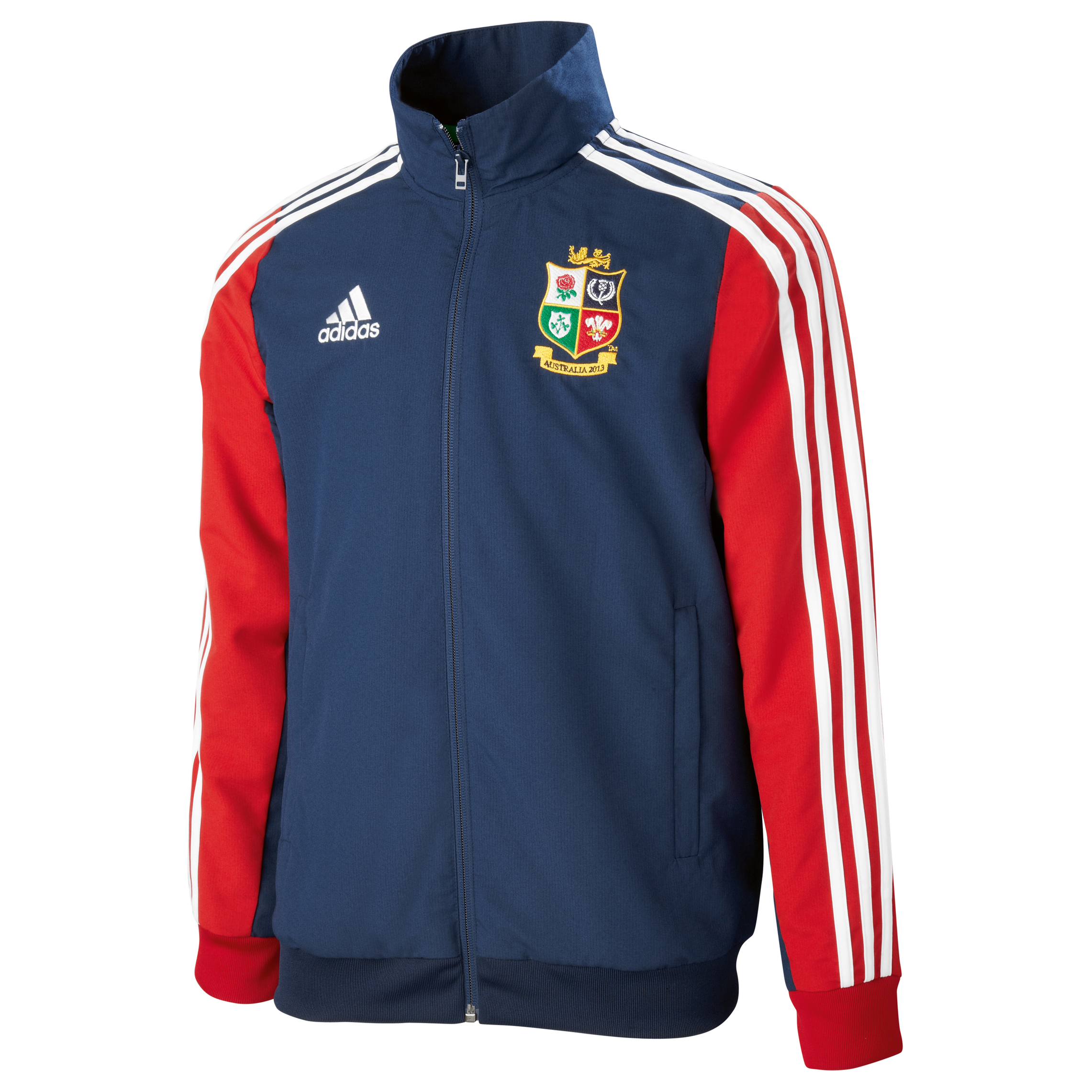 adidas British and Irish Lions Presentation Jacket - Collegiate Navy/University Red/White - Kids