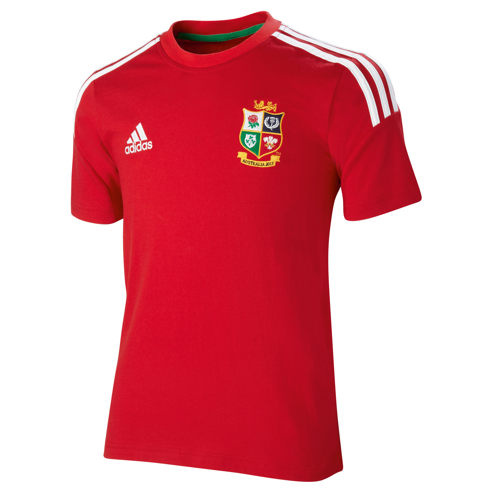 adidas British and Irish Lions T-Shirt - University Red/White - Youths