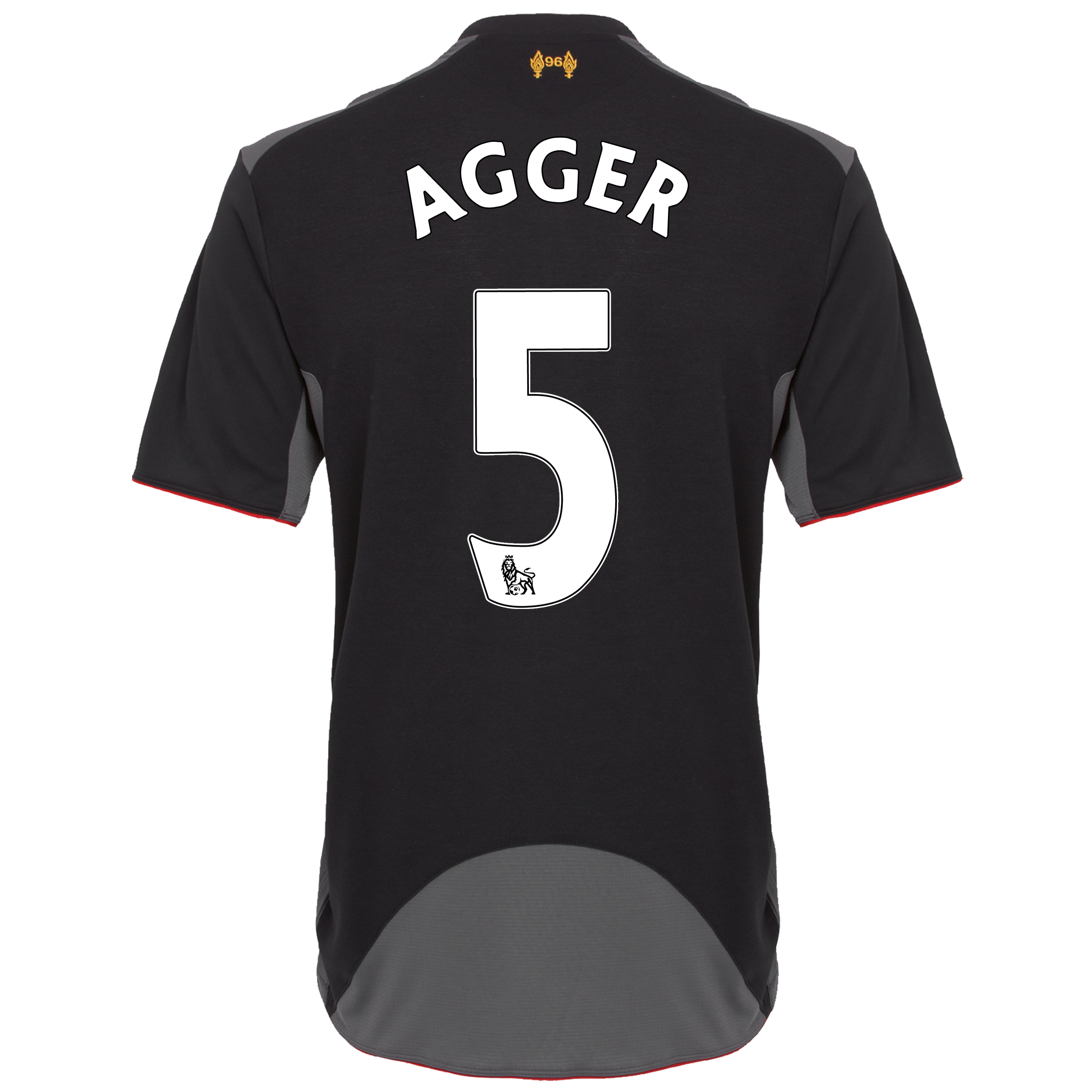Liverpool Away Shirt 2012/13 with Agger 5 printing