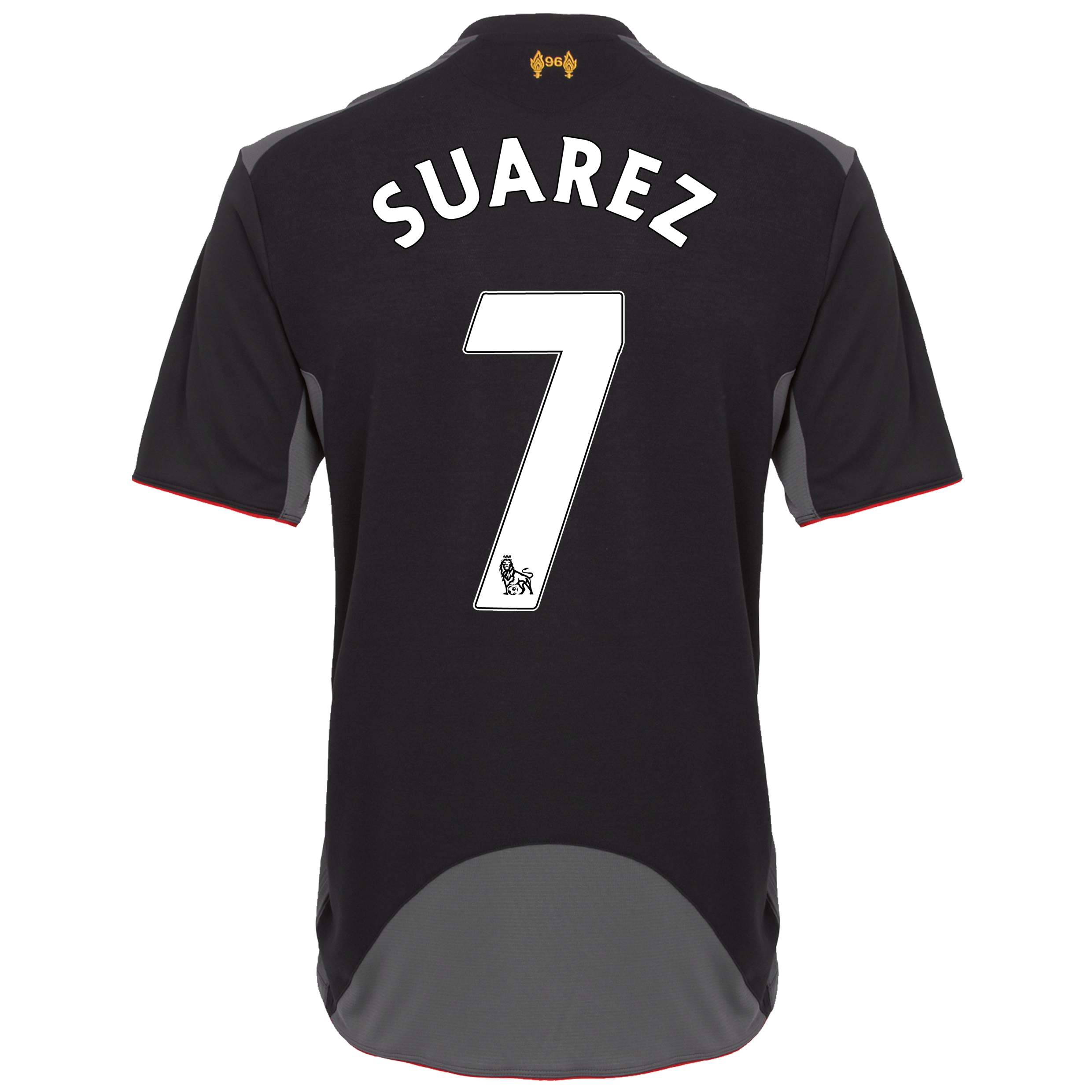Liverpool Away Shirt 2012/13 - Kids with Suarez 7 printing