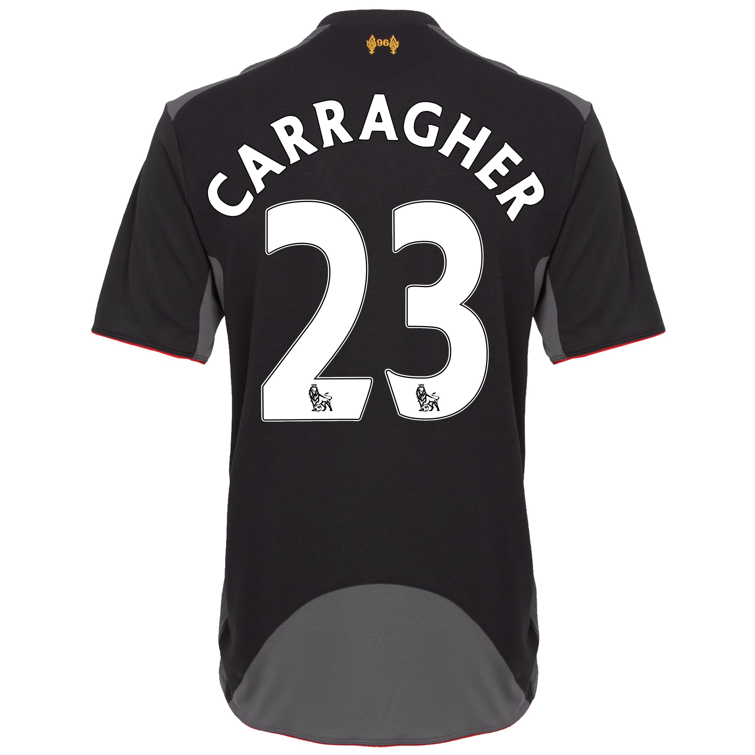 Liverpool Away Shirt 2012/13 - Kids with Carragher 23 printing