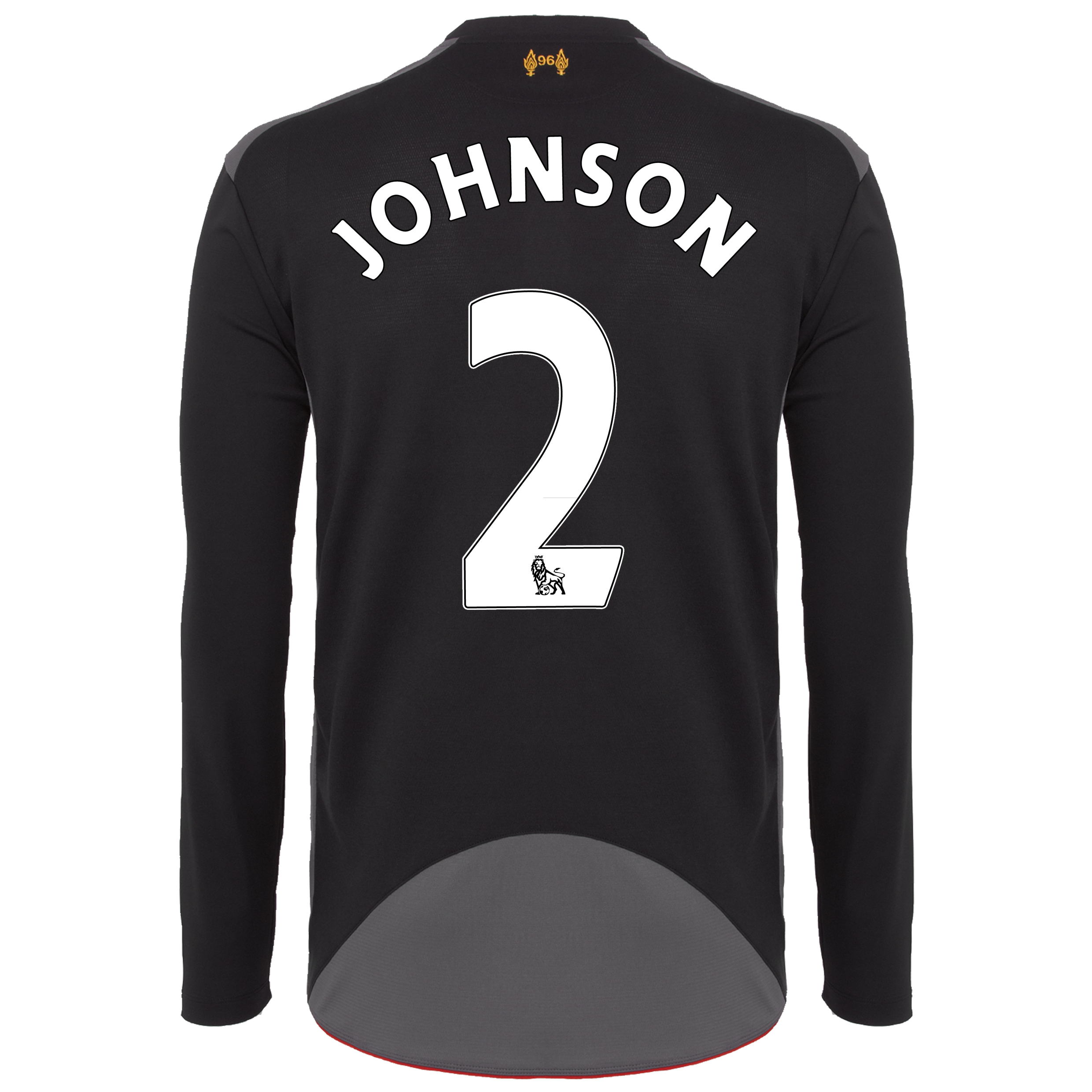 Liverpool Away Shirt 2012/13 - Long Sleeve - Kids with Johnson 2 printing