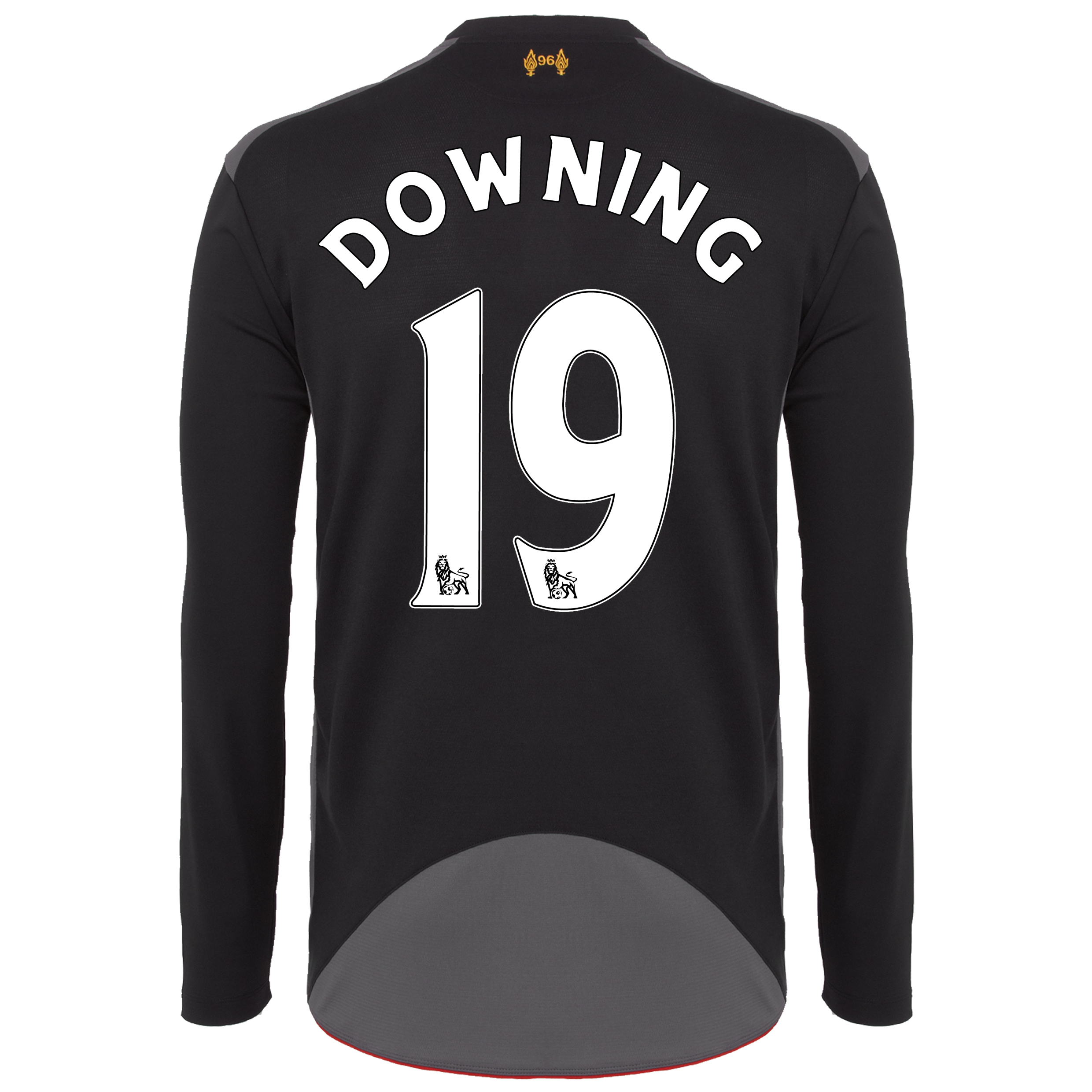 Liverpool Away Shirt 2012/13 - Long Sleeve - Kids with Downing 19 printing