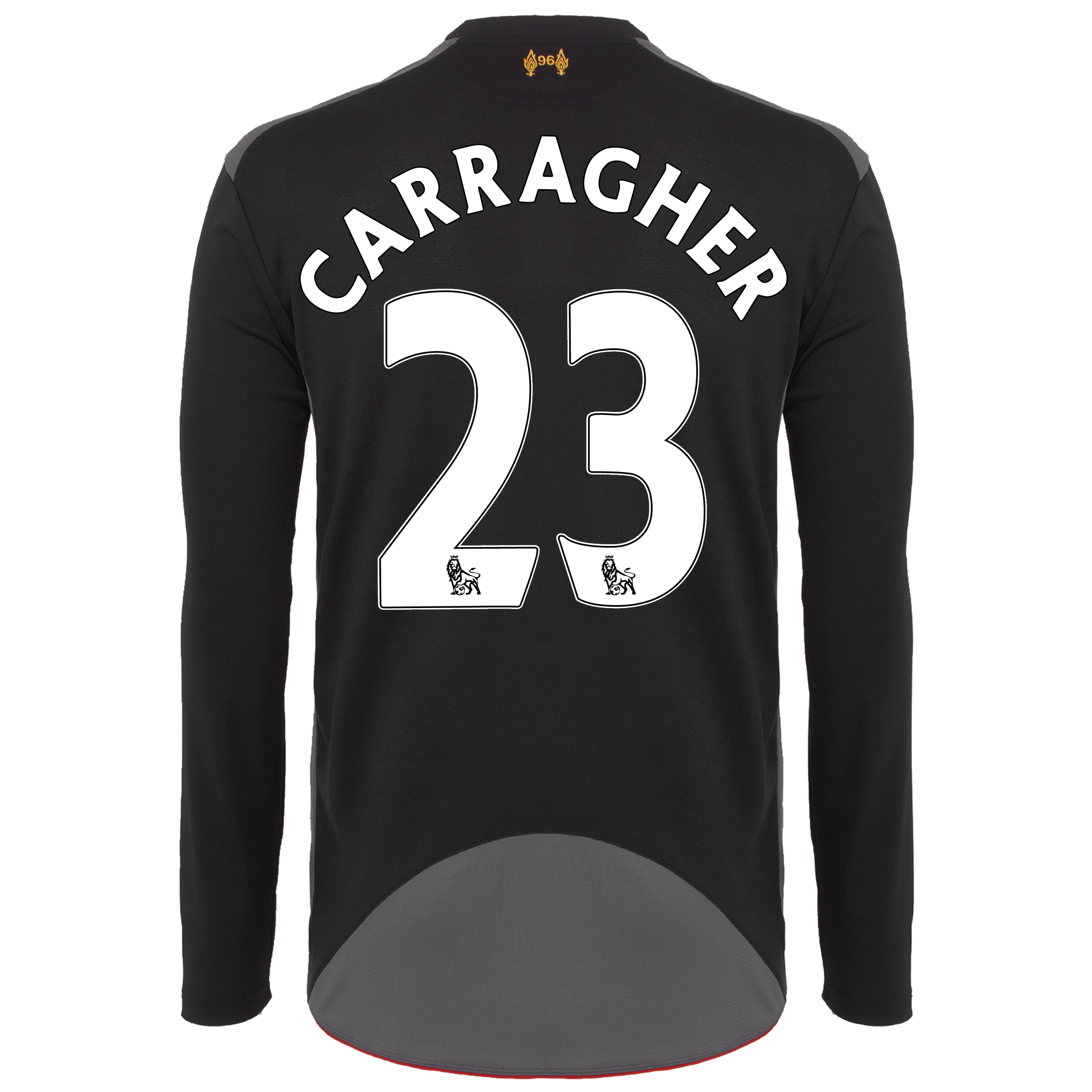 Liverpool Away Shirt 2012/13 - Long Sleeve - Kids with Carragher 23 printing