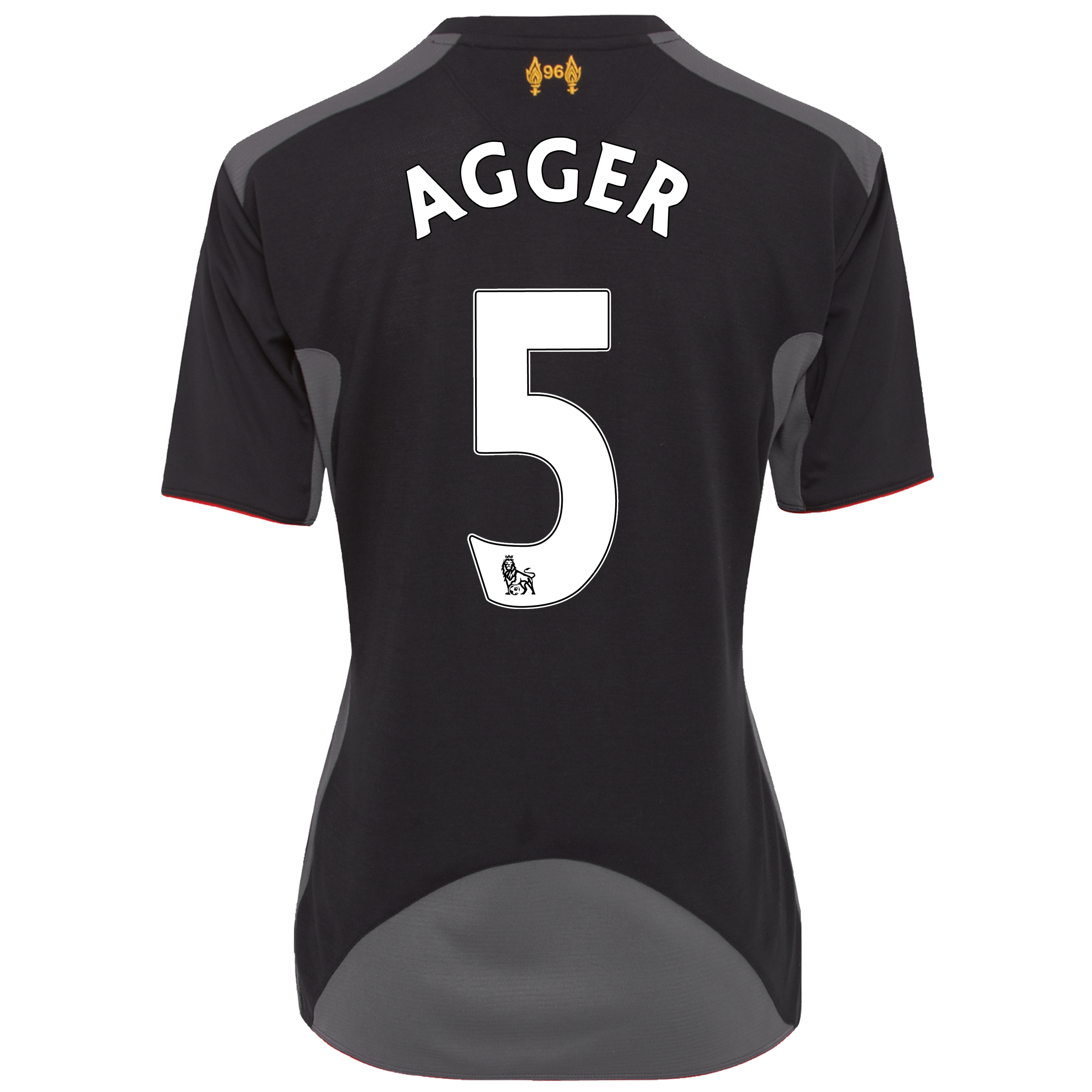 Liverpool Away Shirt 2012/13 - Womens with Agger 5 printing