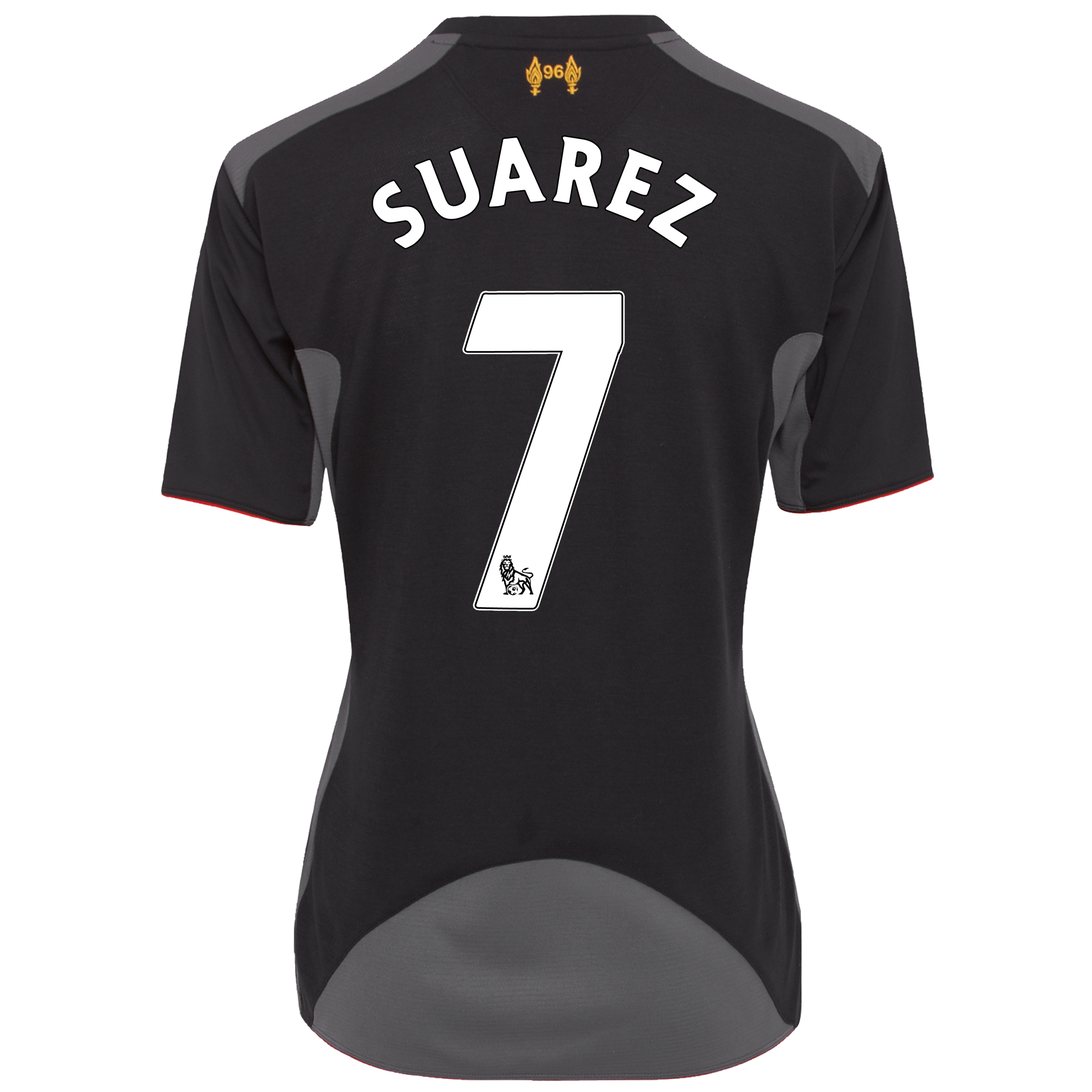 Liverpool Away Shirt 2012/13 - Womens with Suarez 7 printing