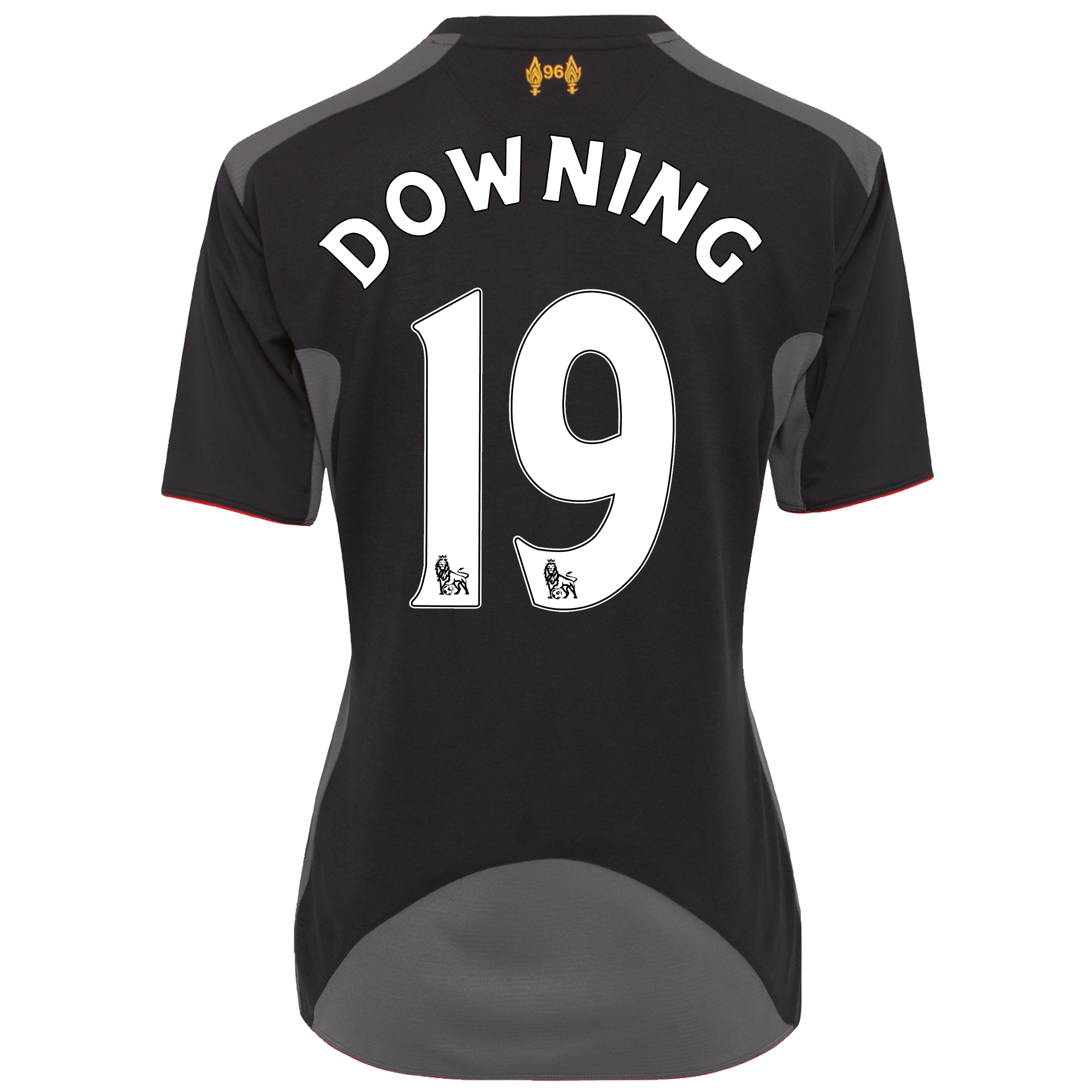 Liverpool Away Shirt 2012/13 - Womens with Downing 19 printing