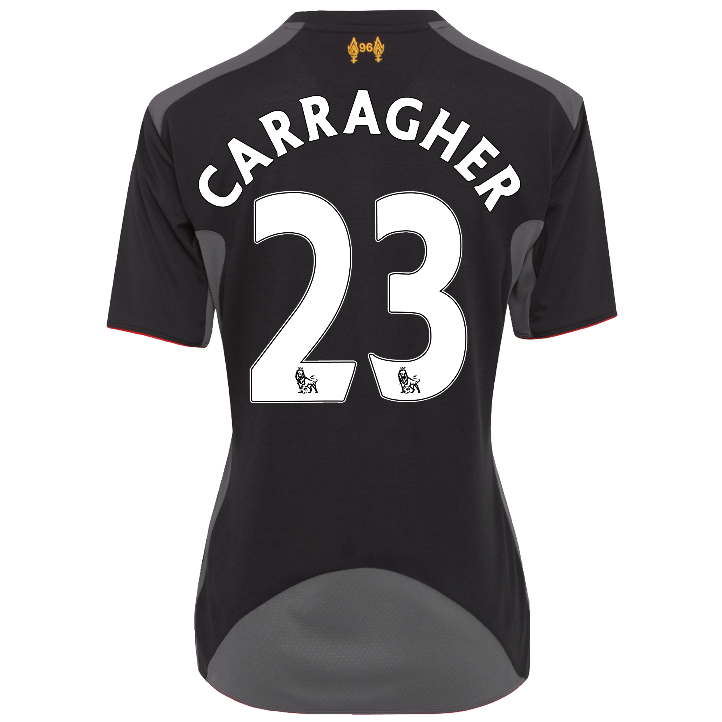 Liverpool Away Shirt 2012/13 - Womens with Carragher 23 printing