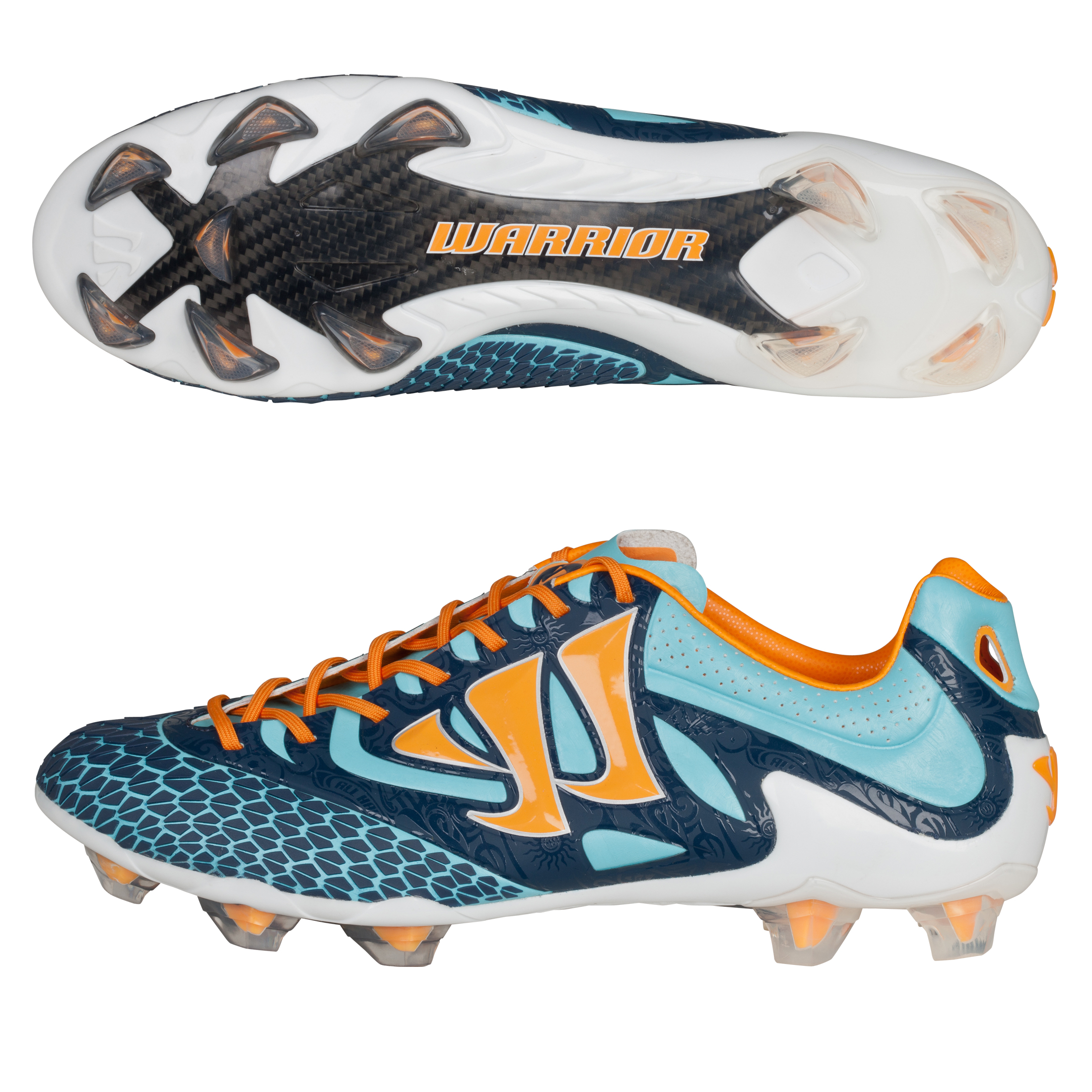 Warrior Sports Skreamer S-Lite Firm Ground Football Boots - Blue Radiance/Bright Marigold/Insignia Blue